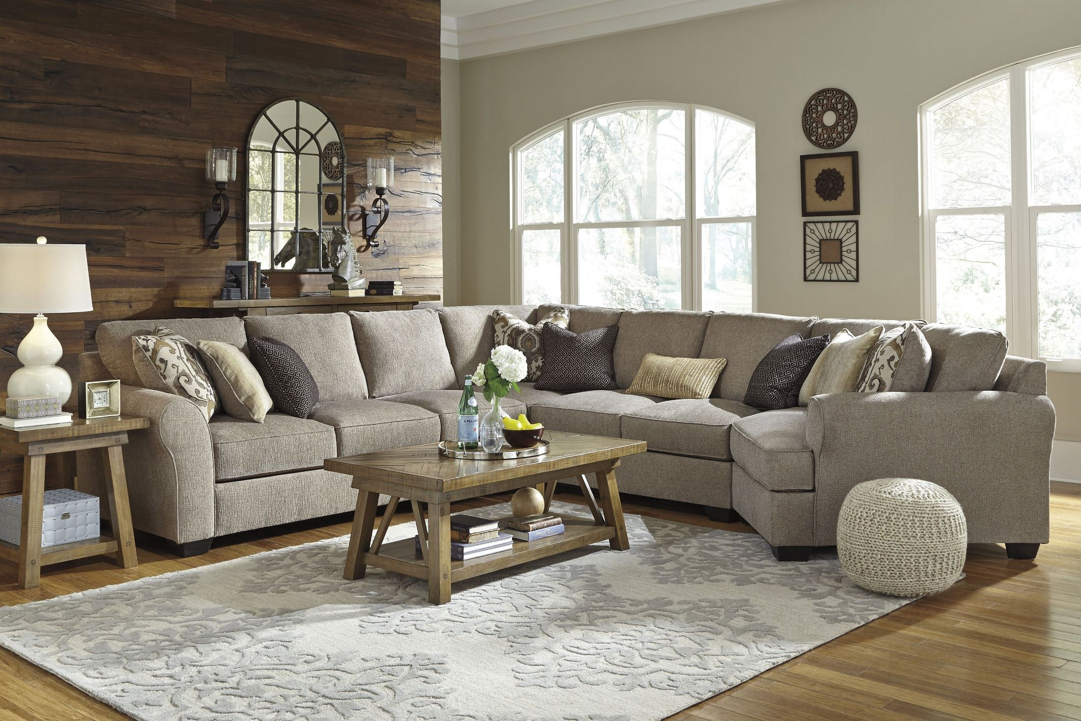 Pantomine Driftwood Raf Cuddler Sectional 3910216 Ashley