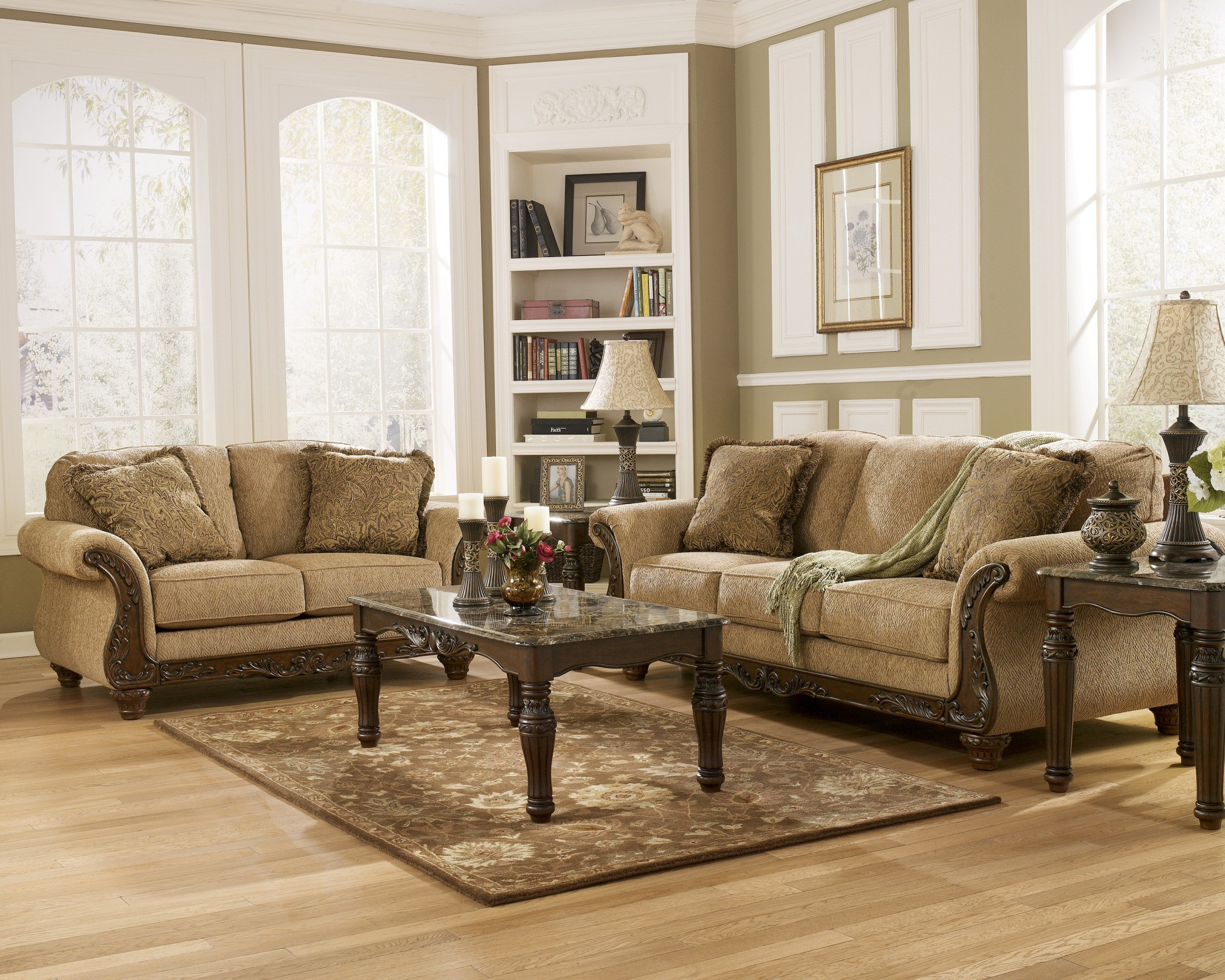 Cambridge Amber Living Room Set From Ashley 3940138 Coleman Furniture