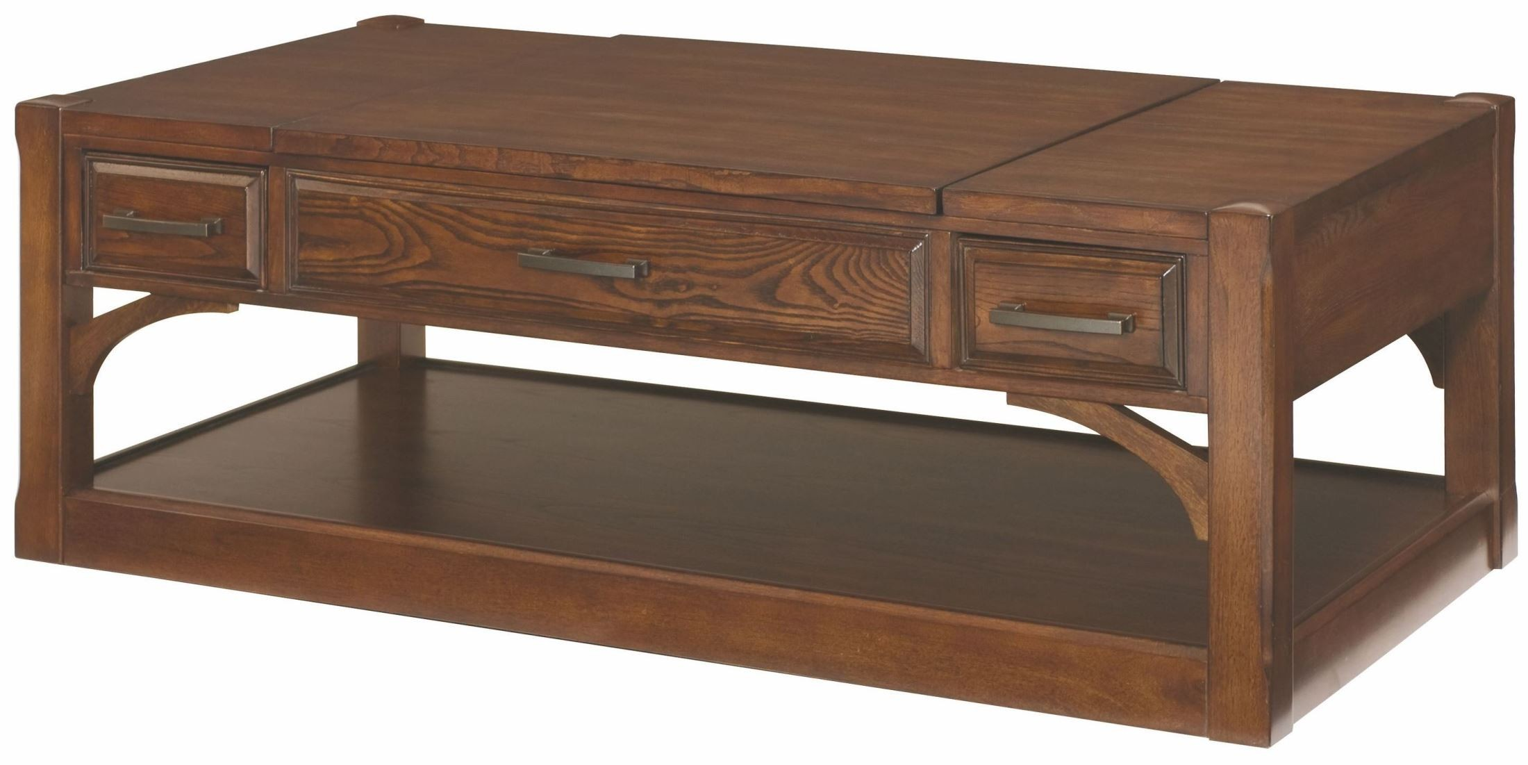 Scholar Chocolate Brown Rectangular Lift Top Cocktail Table 395 910 Hammary