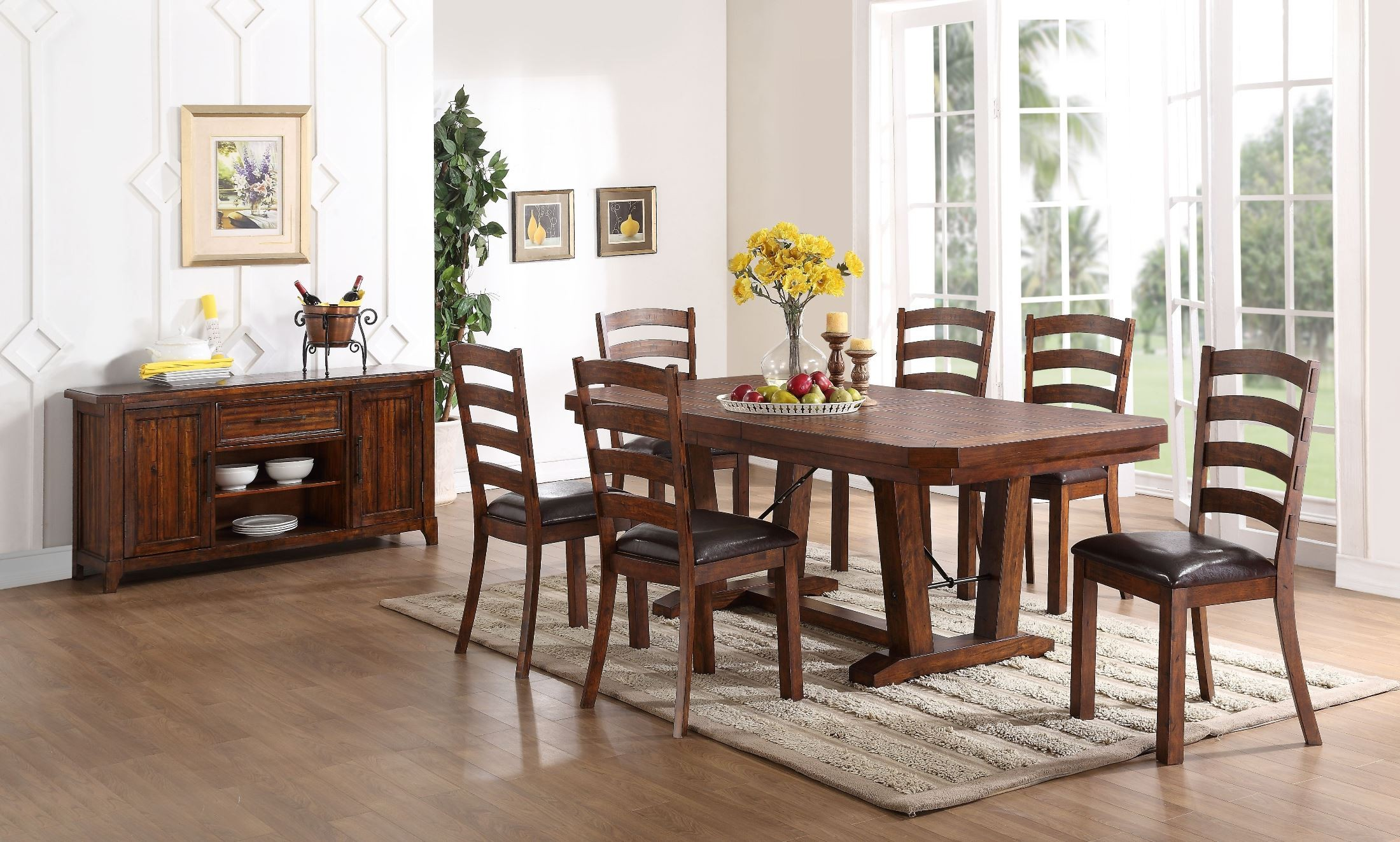 lanesboro distressed walnut dining room set from new