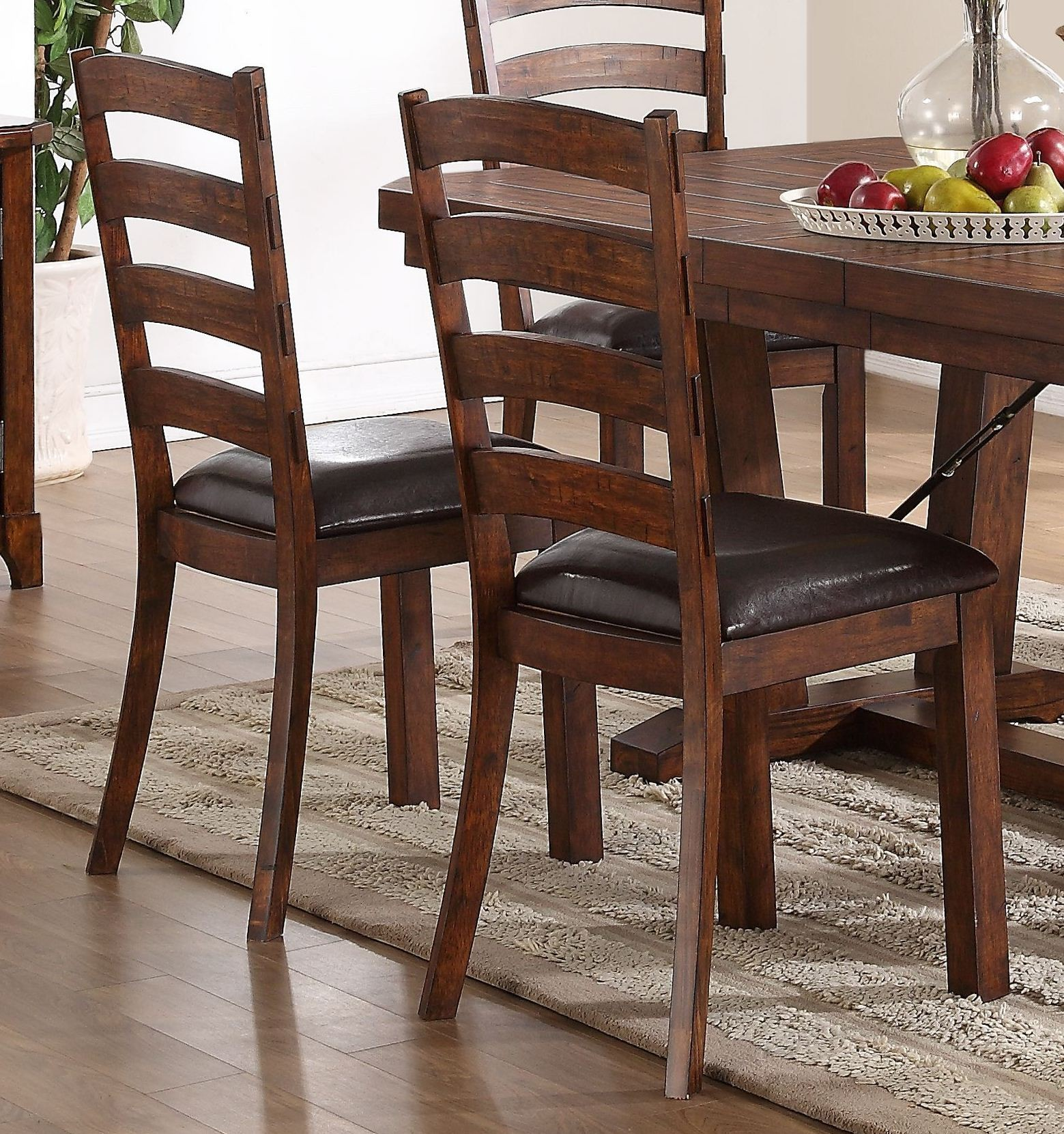 lanesboro distressed walnut dining chair set of 2 from new