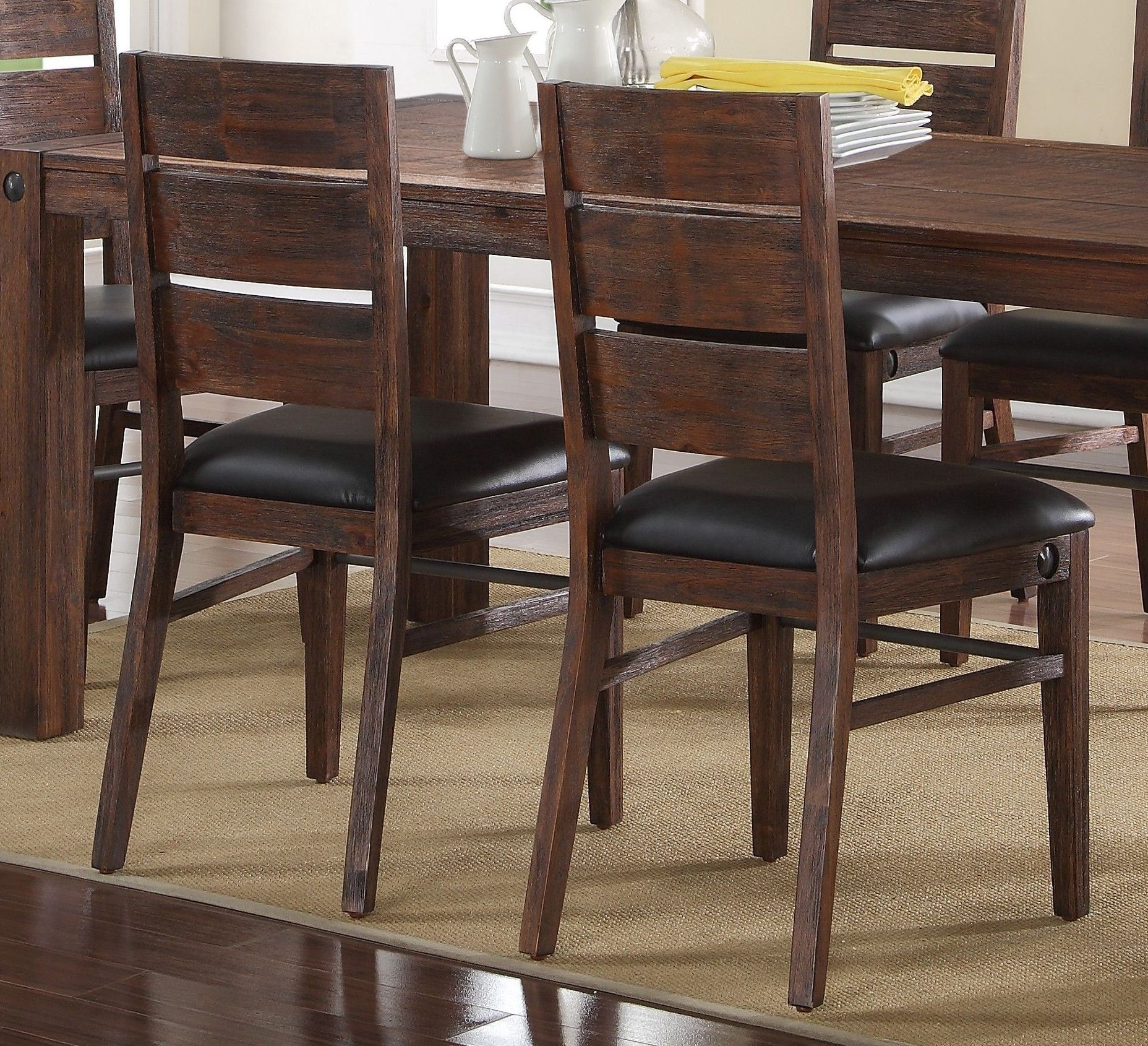 Fairway Royal Classics Distressed Walnut Dining Chair Set