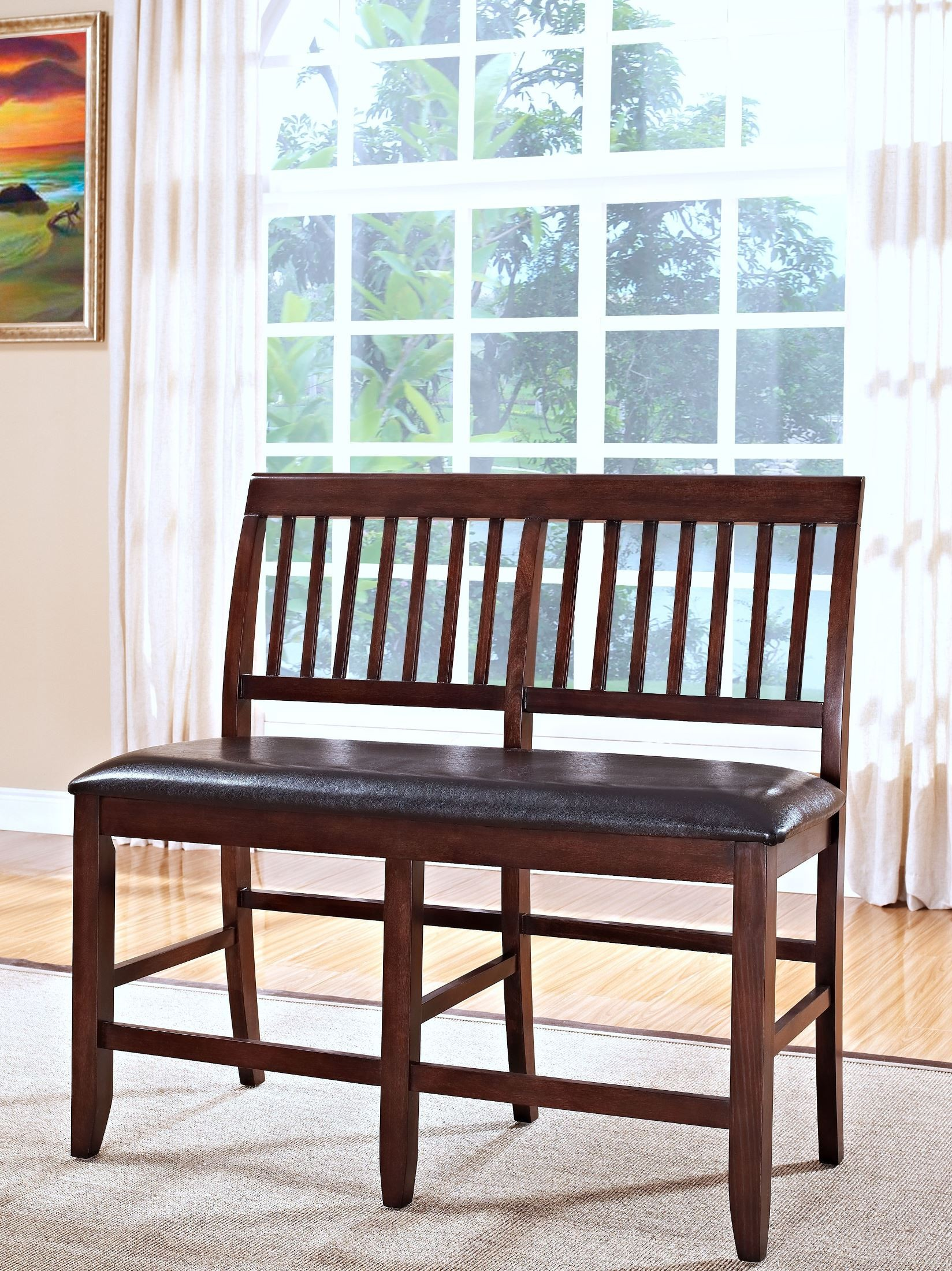 Kaylee Tudor Counter Height Storage Dining Room Set From