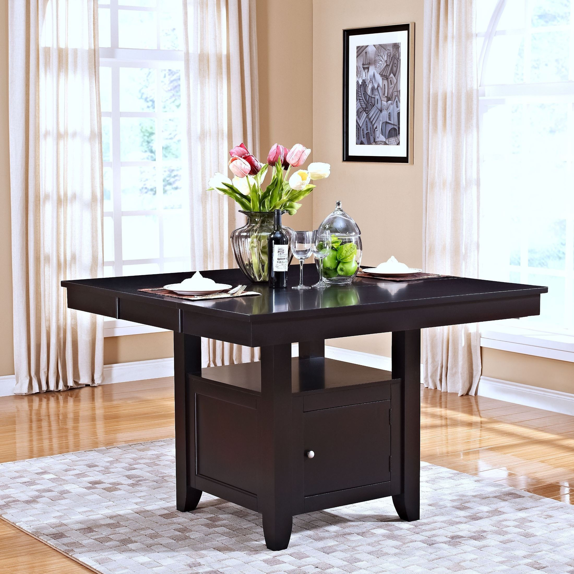 Kaylee Espresso Counter Height Storage Dining Room Set  : 40 10211 from colemanfurniture.com size 2200 x 2200 jpeg 976kB