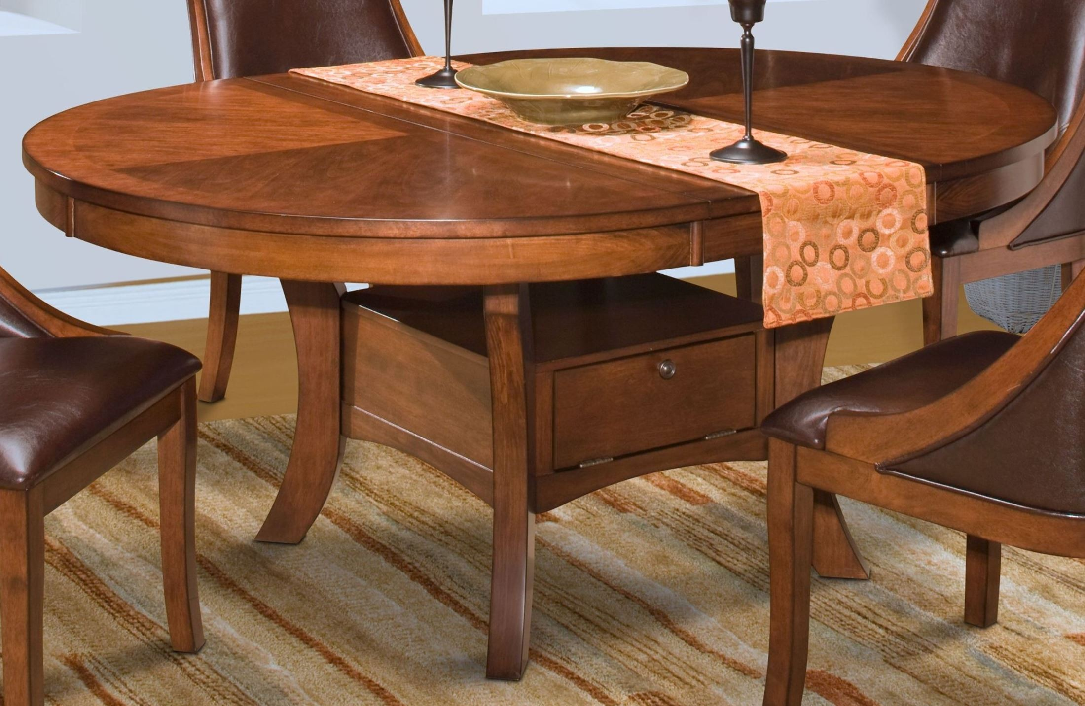 Aspen Round Extendable Dining Table From New Classics 40 116 11 11B