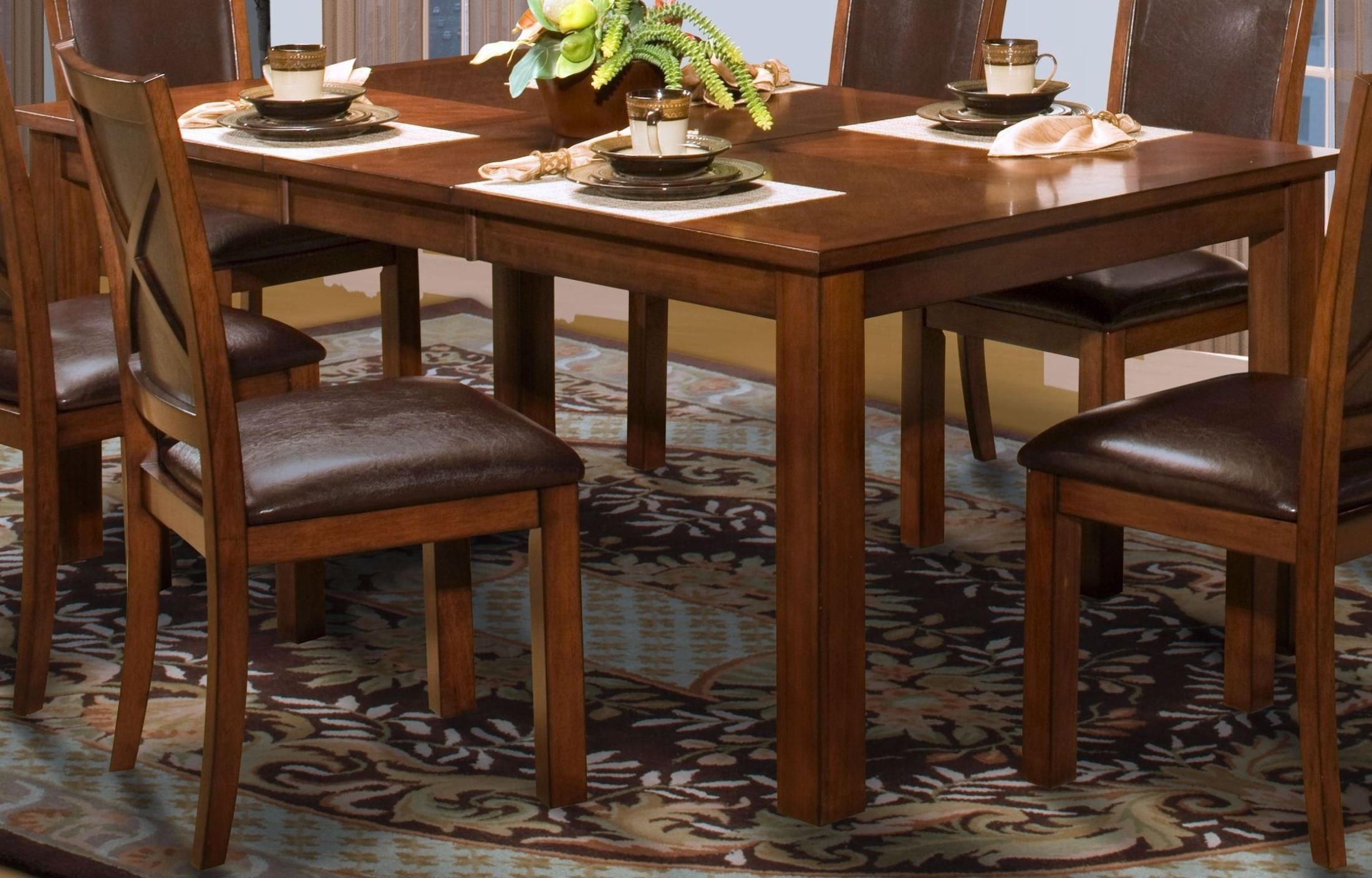 aspen standard rectangular extendable dining room set from