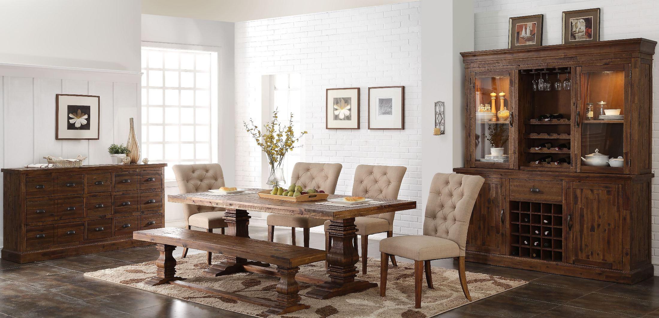 normandy vintage distressed dining room set d1232 10 10b