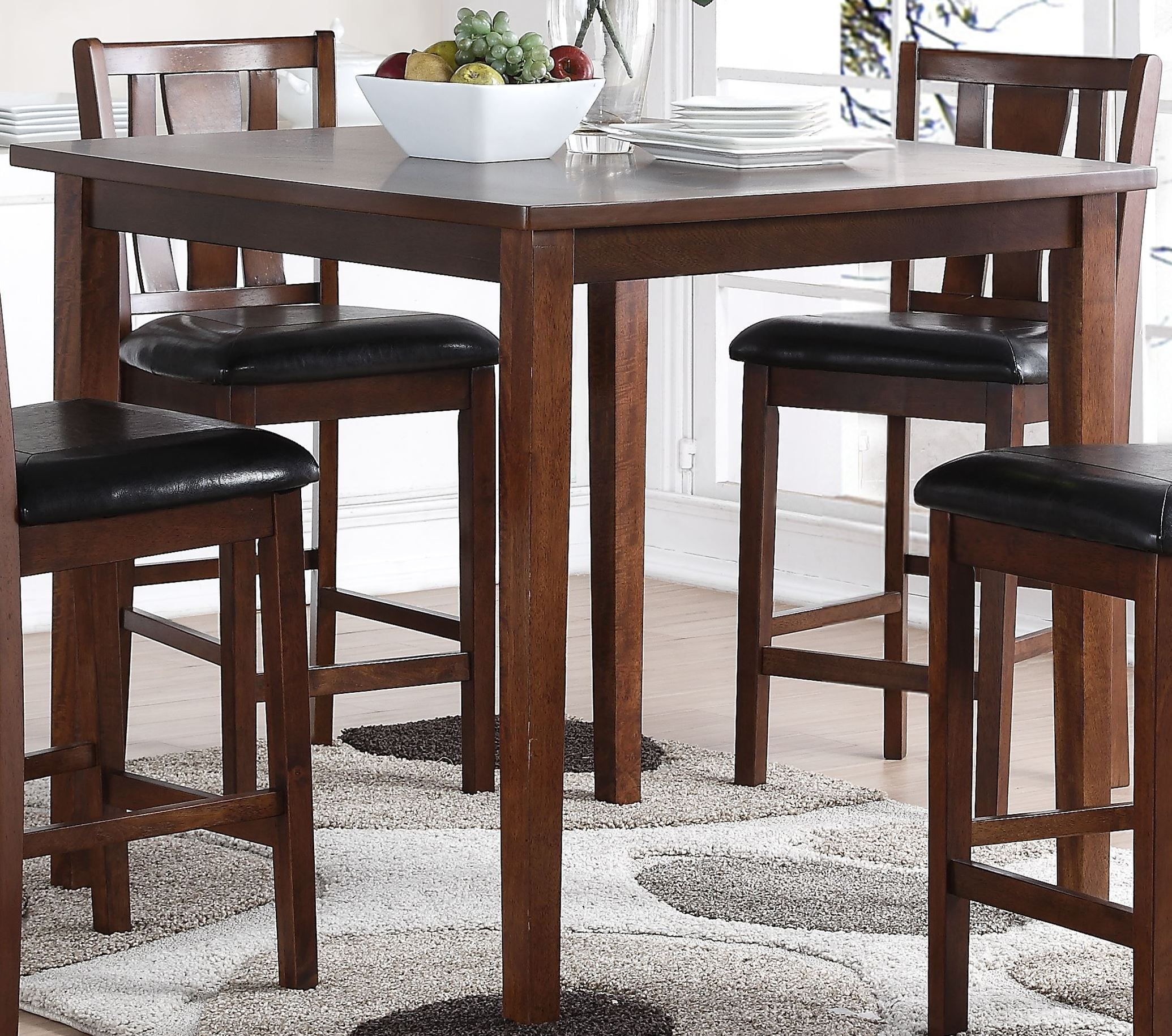 5 Pcs Dixon Dark Espresso Counter Height Dining Room Set