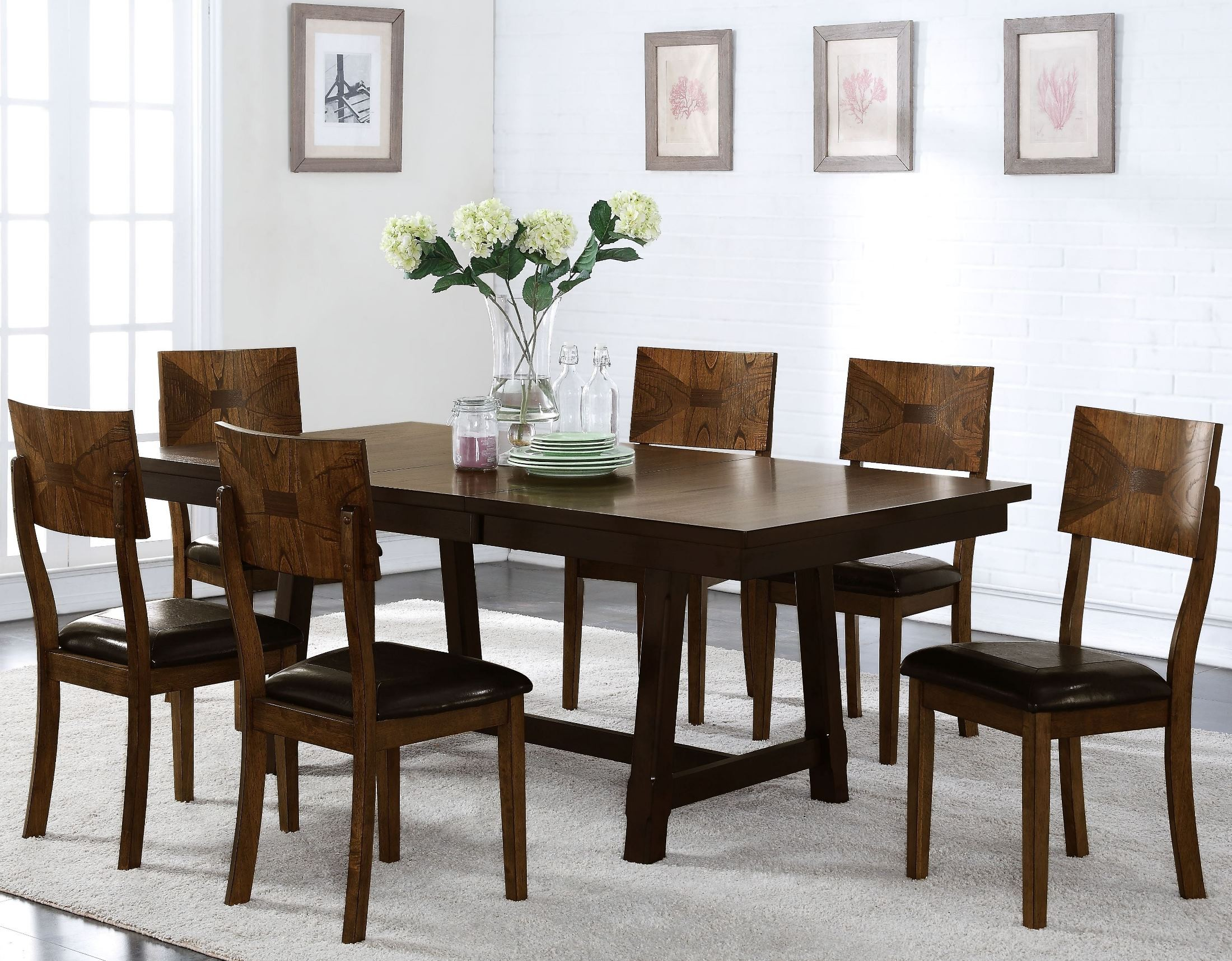 Gillian two tone dining room set d228 10 new classics for 2 tone dining room sets