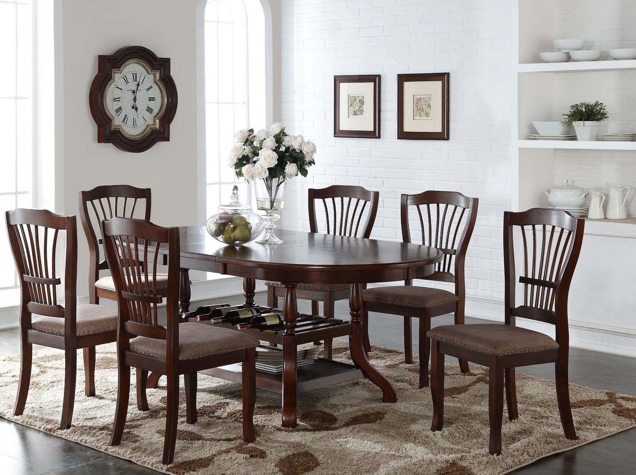 oval dining room set