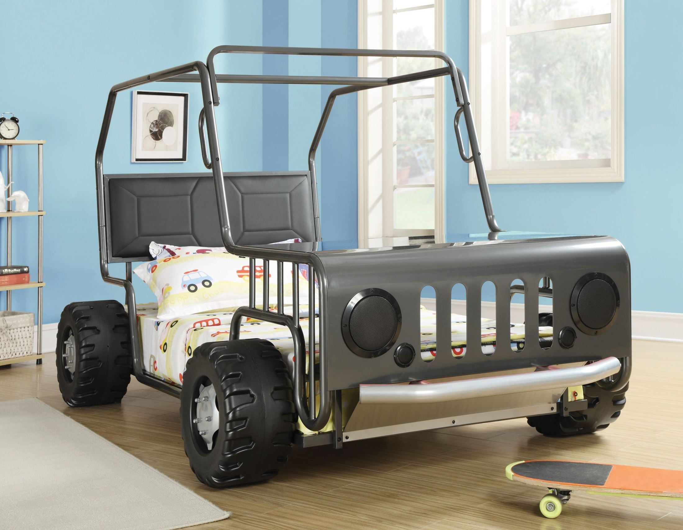 Casey Black Jeep Car Twin Size Bed From Coaster 400371