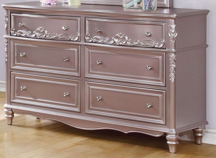Caroline metallic lilac youth storage platform bedroom set 400891t coaster furniture for Youth storage bedroom furniture