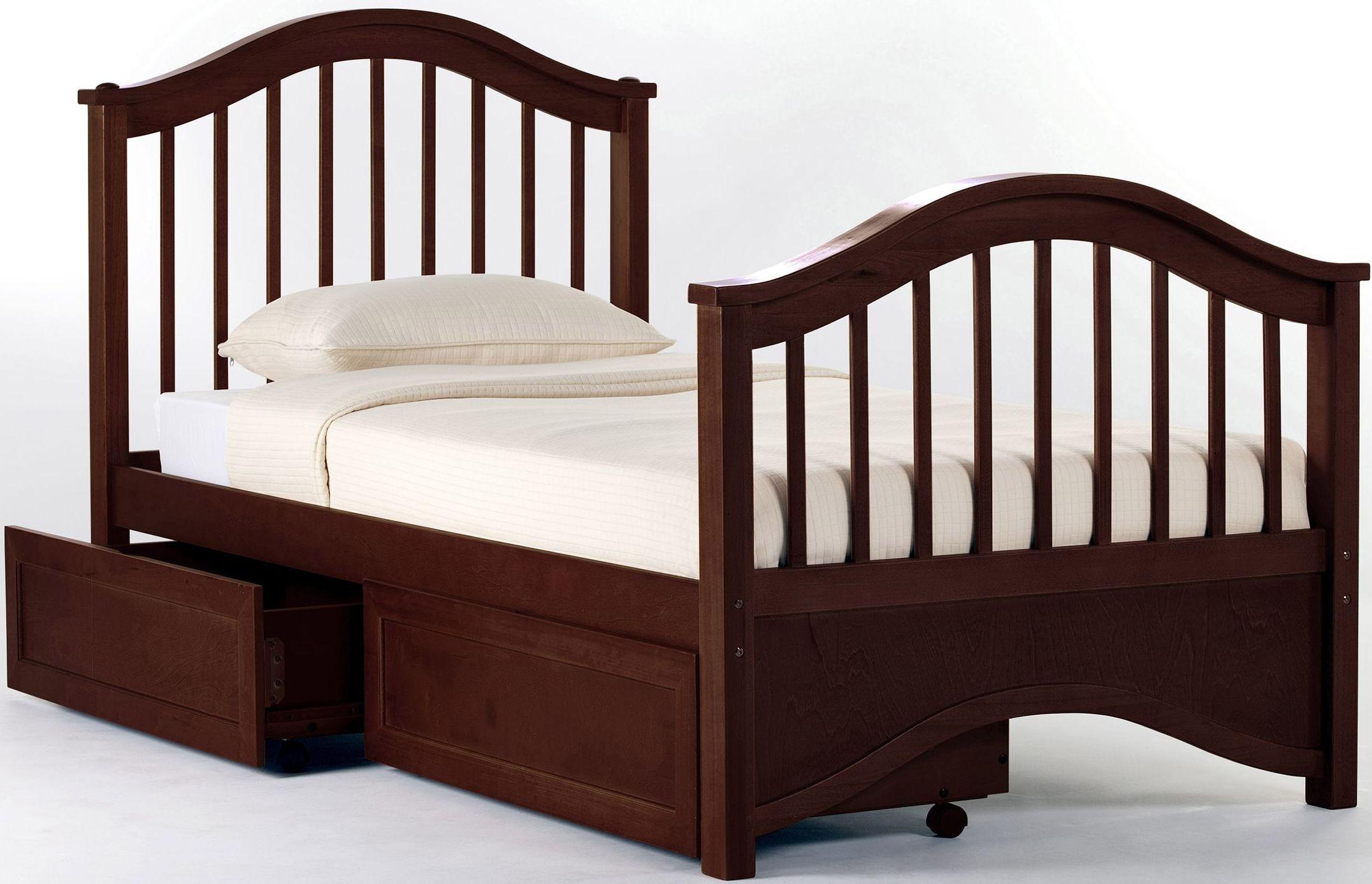 School House Cherry Jordan Twin Panel Bed With Storage 4010ns Ne Kids