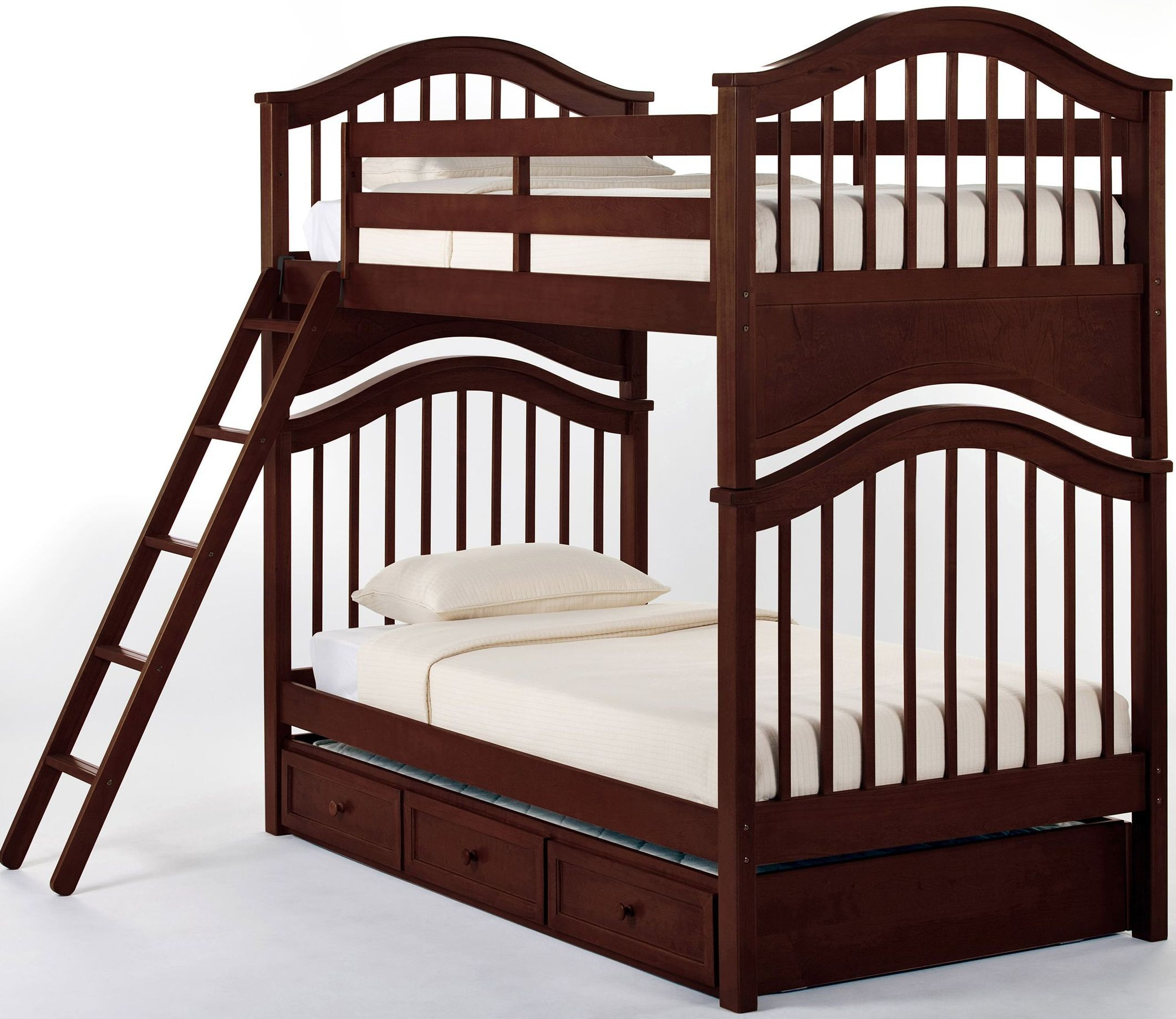 school house cherry jordan twin over twin bunk bed with. Black Bedroom Furniture Sets. Home Design Ideas