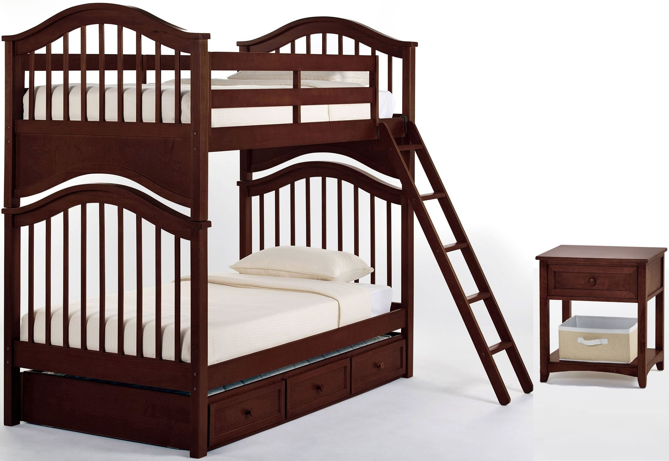 School House Cherry Jordan Twin Over Twin Bunk Bed With