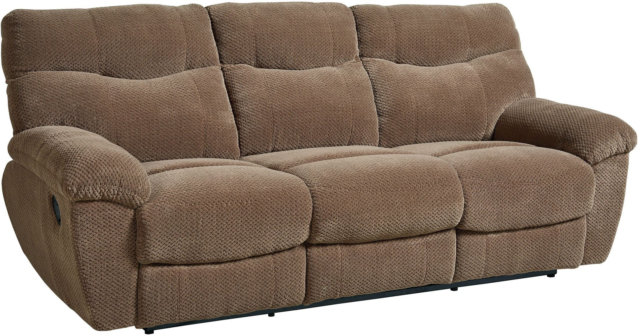 Escapade Taupe Brown Reclining Sofa 4012391 Standard