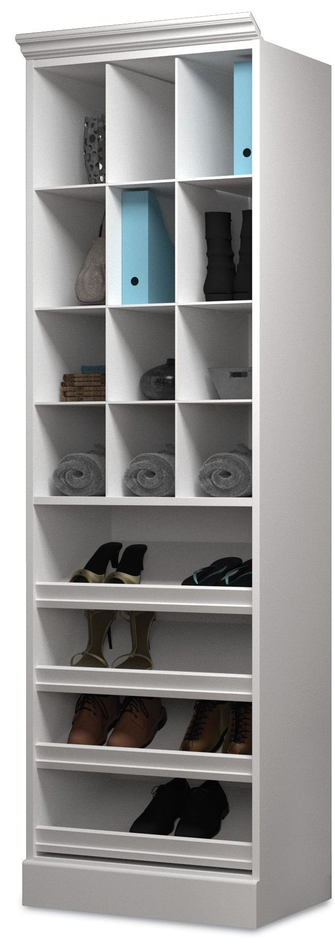 Versatile White 25quot Cubby Storage Unit From Bestar 40164