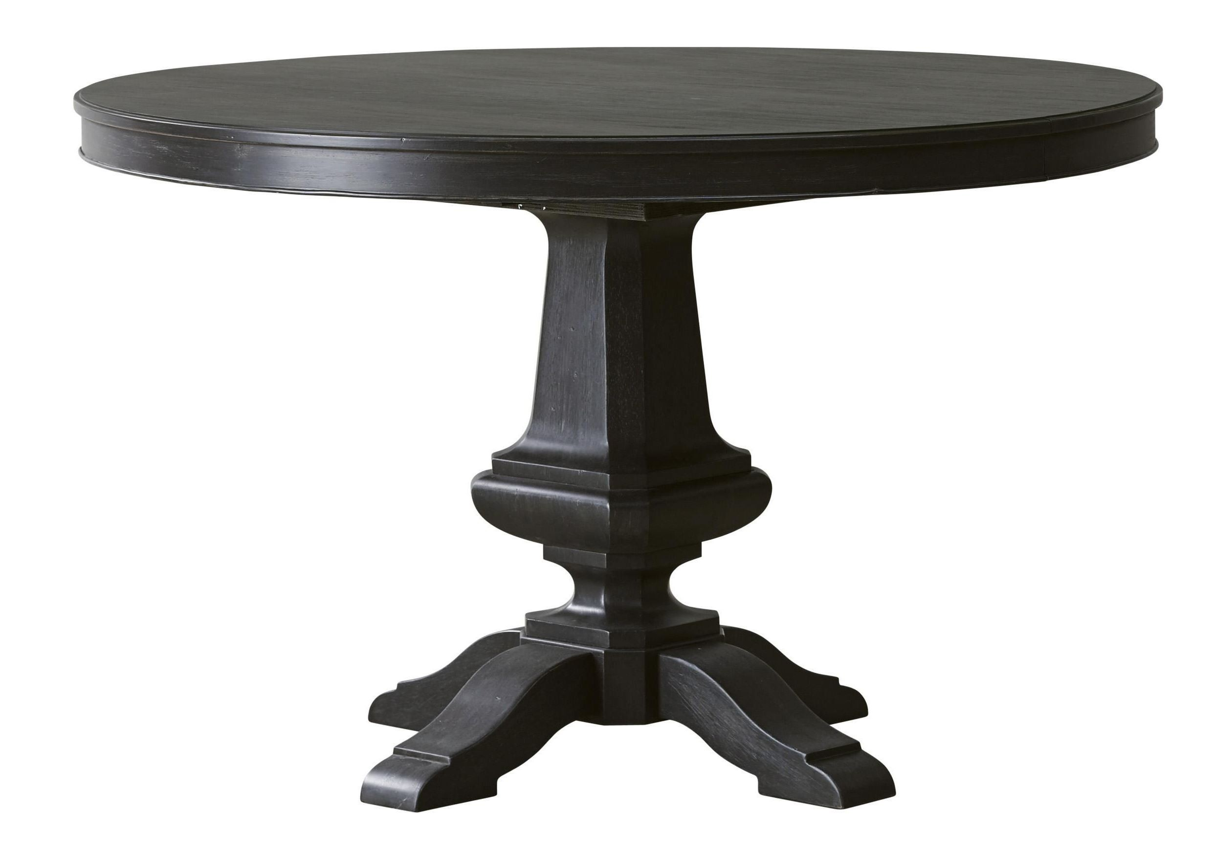 Vintage Tempo Unique Charcoal Round Dining Table From