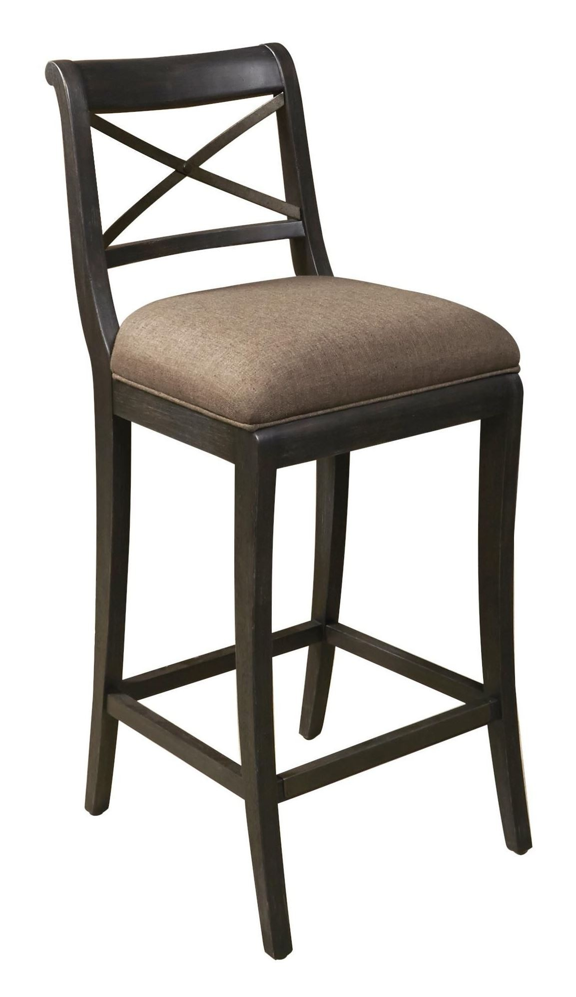 Vintage Tempo Unique Charcoal Bar Stool From Pulaski