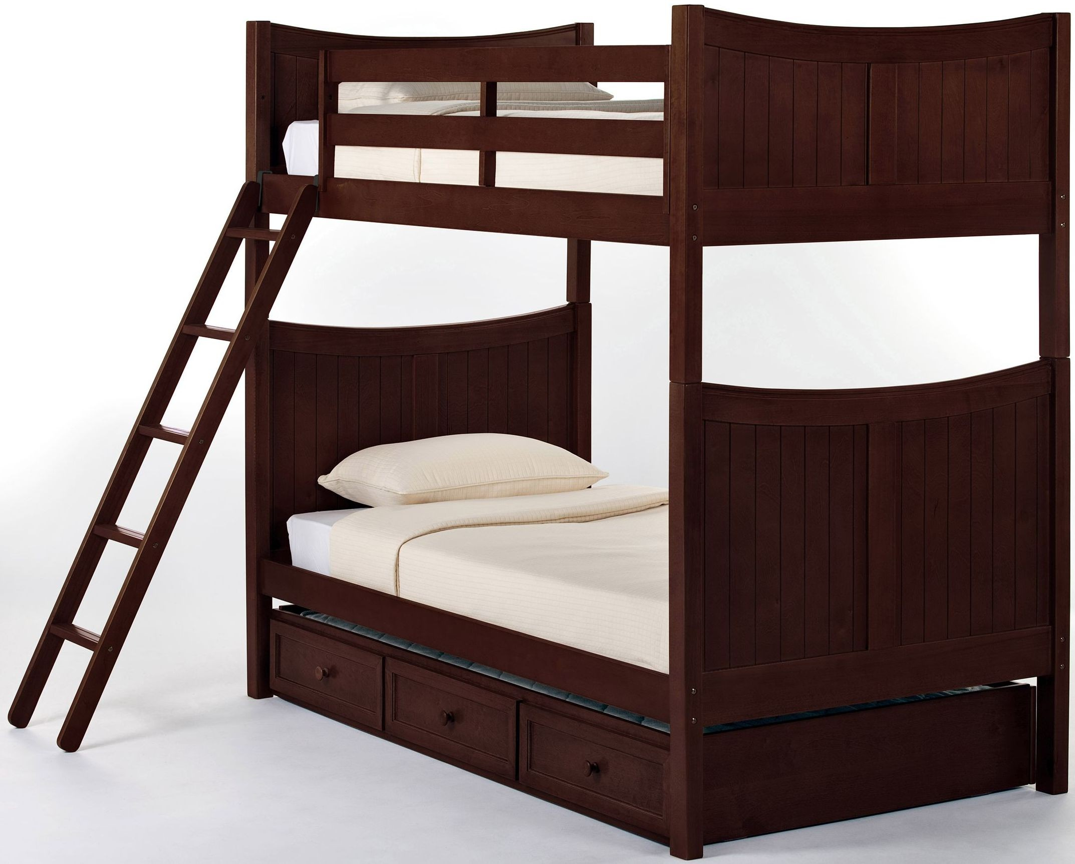 School House Cherry Taylor Twin Over Twin Bunk Bed With