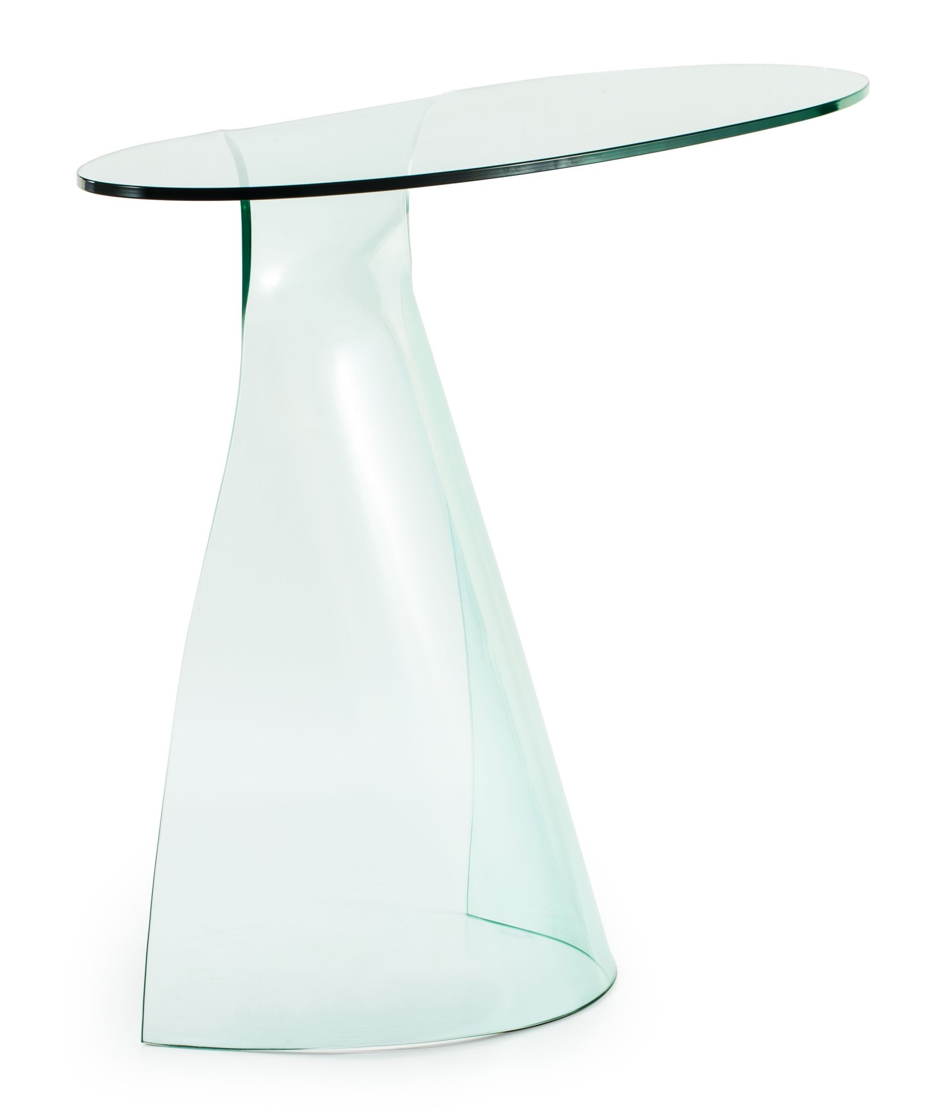 Quest Clear Glass Console Table From Zuo Mod 404089 Coleman Furniture