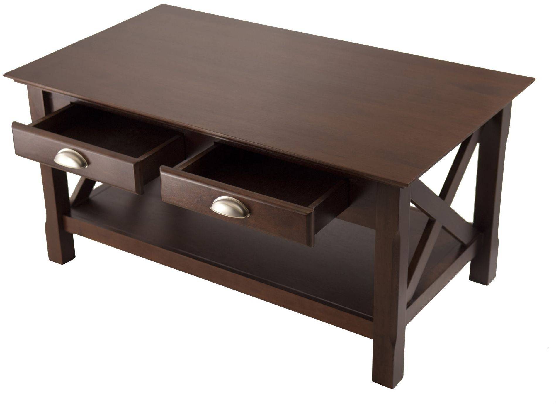 Xola Cappuccino 2 Drawer Coffee Table 40538 Winsome