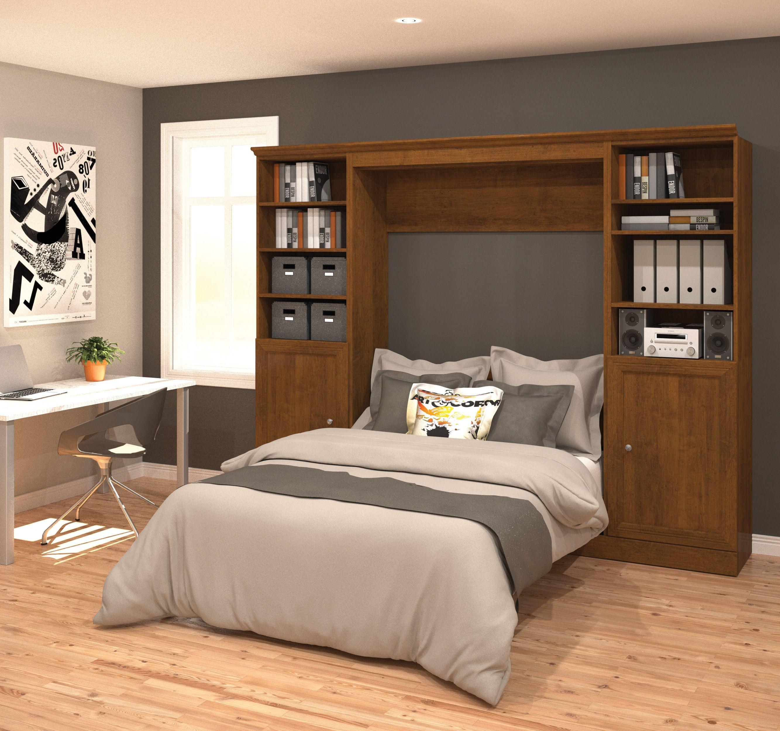 Versatile Chocolate 109 39 39 Door Full Wall Bed From Bestar 40894 63