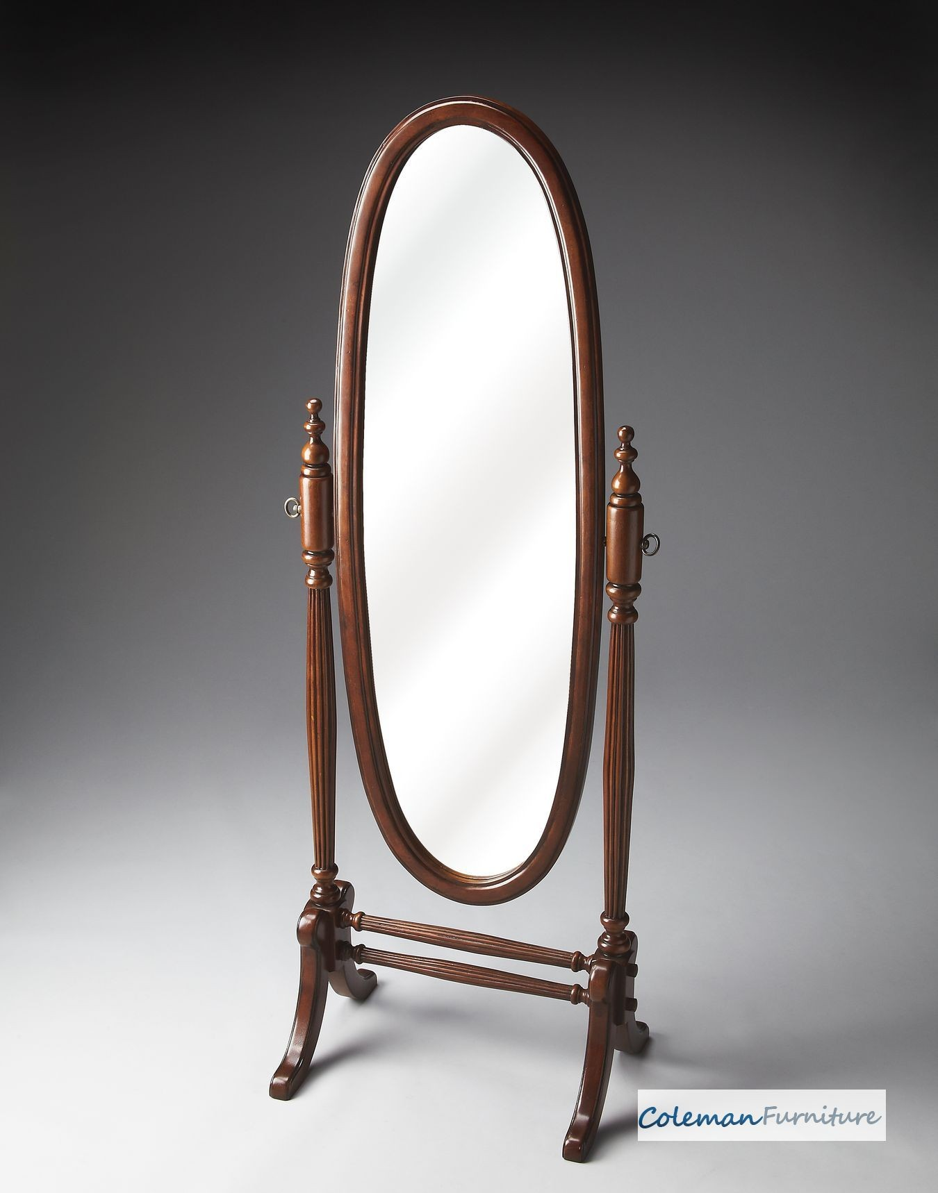 Plantation cherry cheval mirror from butler 4109024 for Cheval mirror