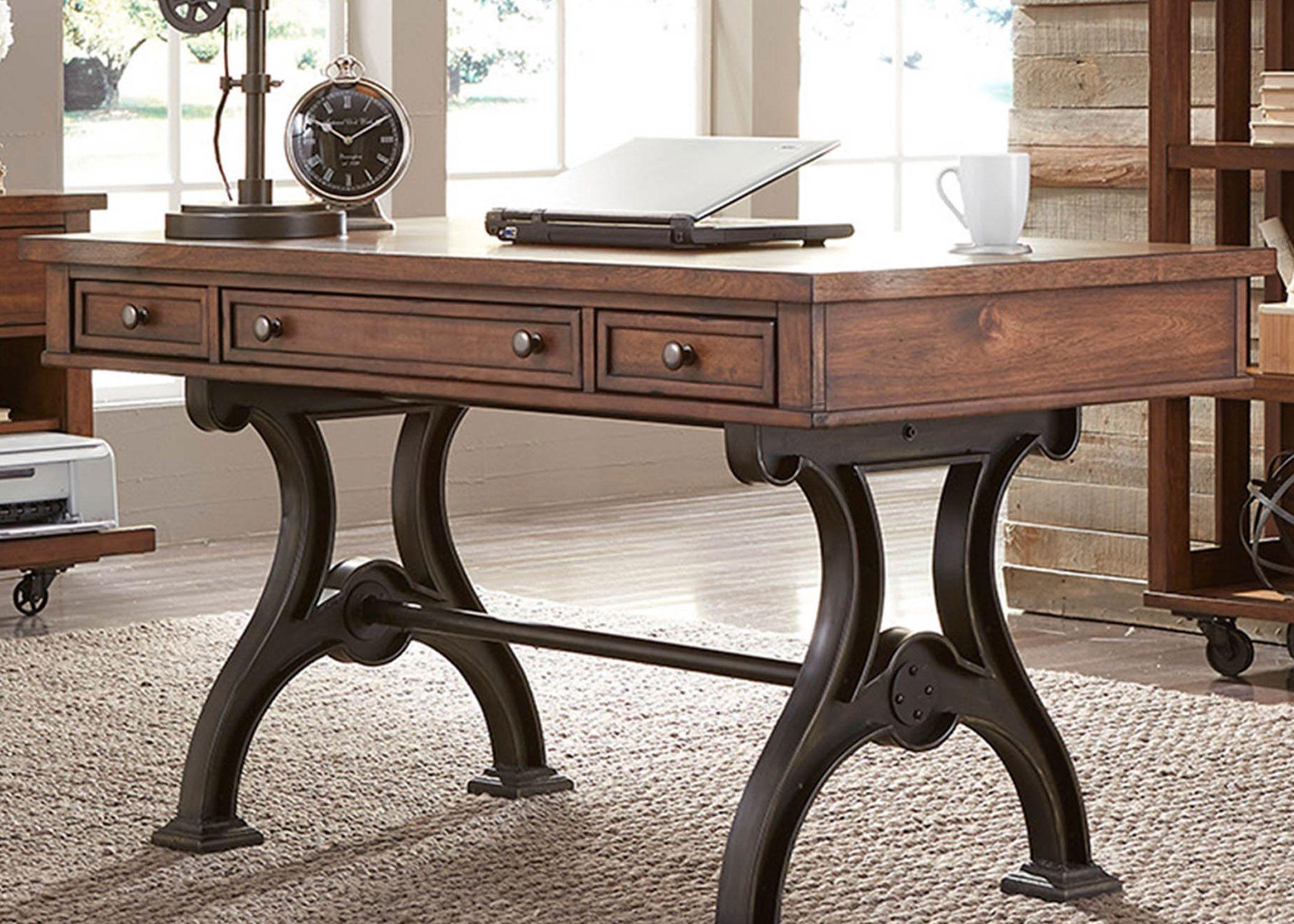 Arlington House Cobblestone Brown Writing Desk From