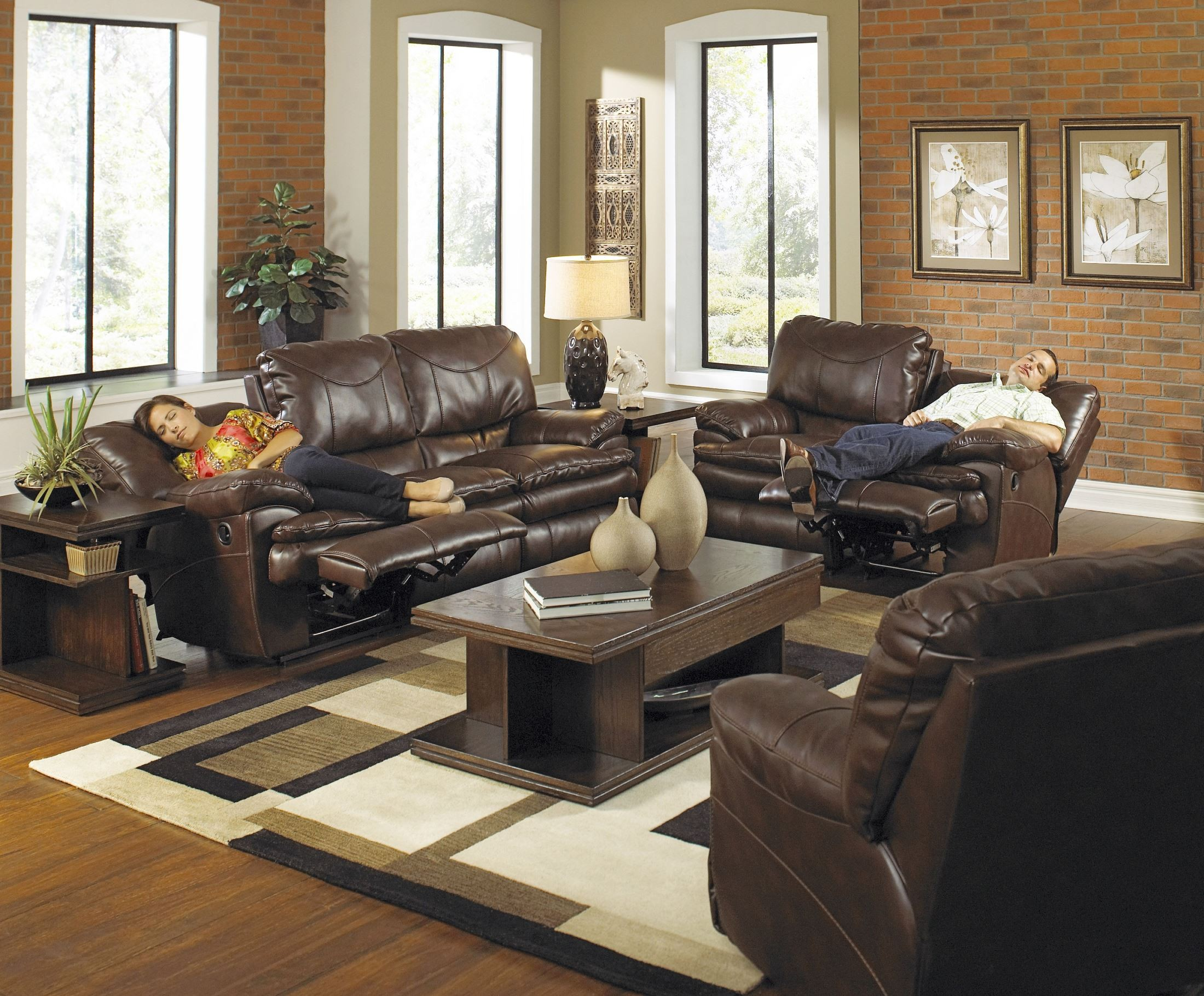 Perez Chestnut Power Reclining Living Room Set From Catnapper 64141100000000
