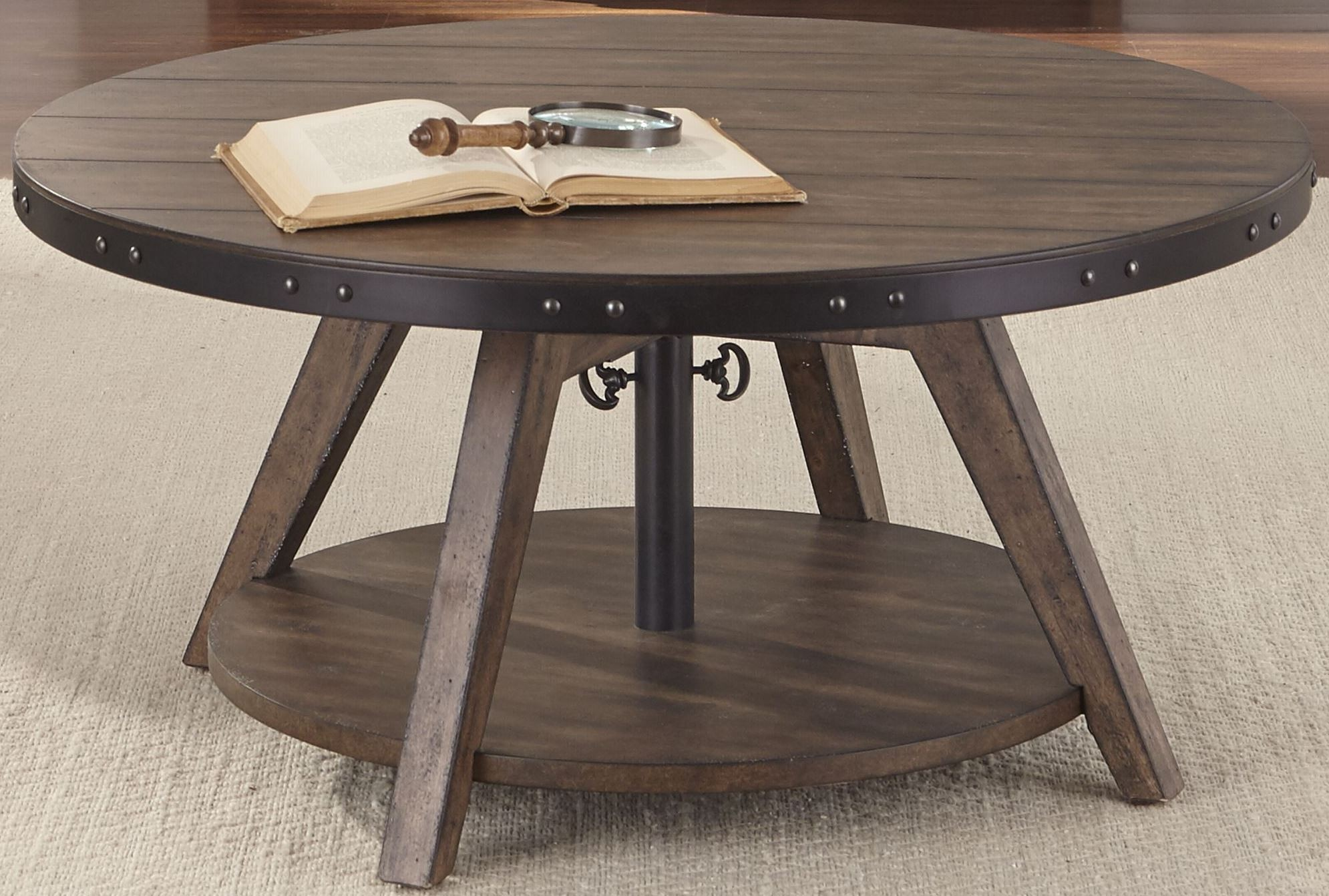Aspen Skies Russet Brown Motion Cocktail Table 416 Ot1011 Liberty