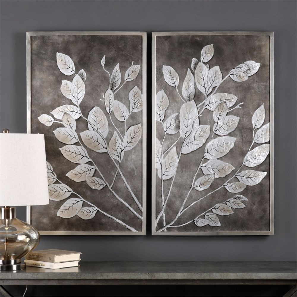Money tree framed art set of 2 41602 uttermost for Wall artwork