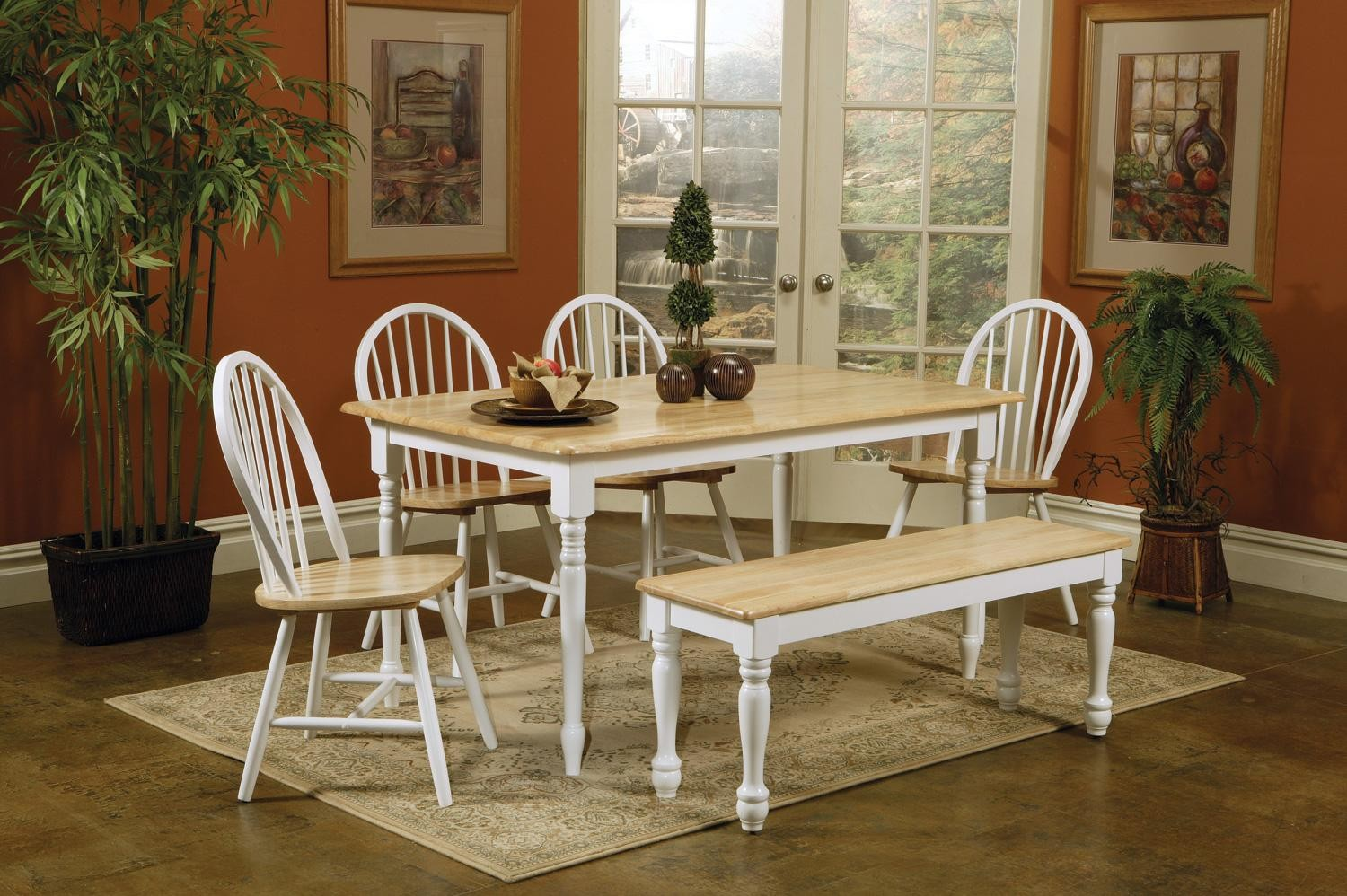 Maple Kitchen Table And Chairs Curved Bench Seating Kitchen Table 53 Inch Round Dining Table
