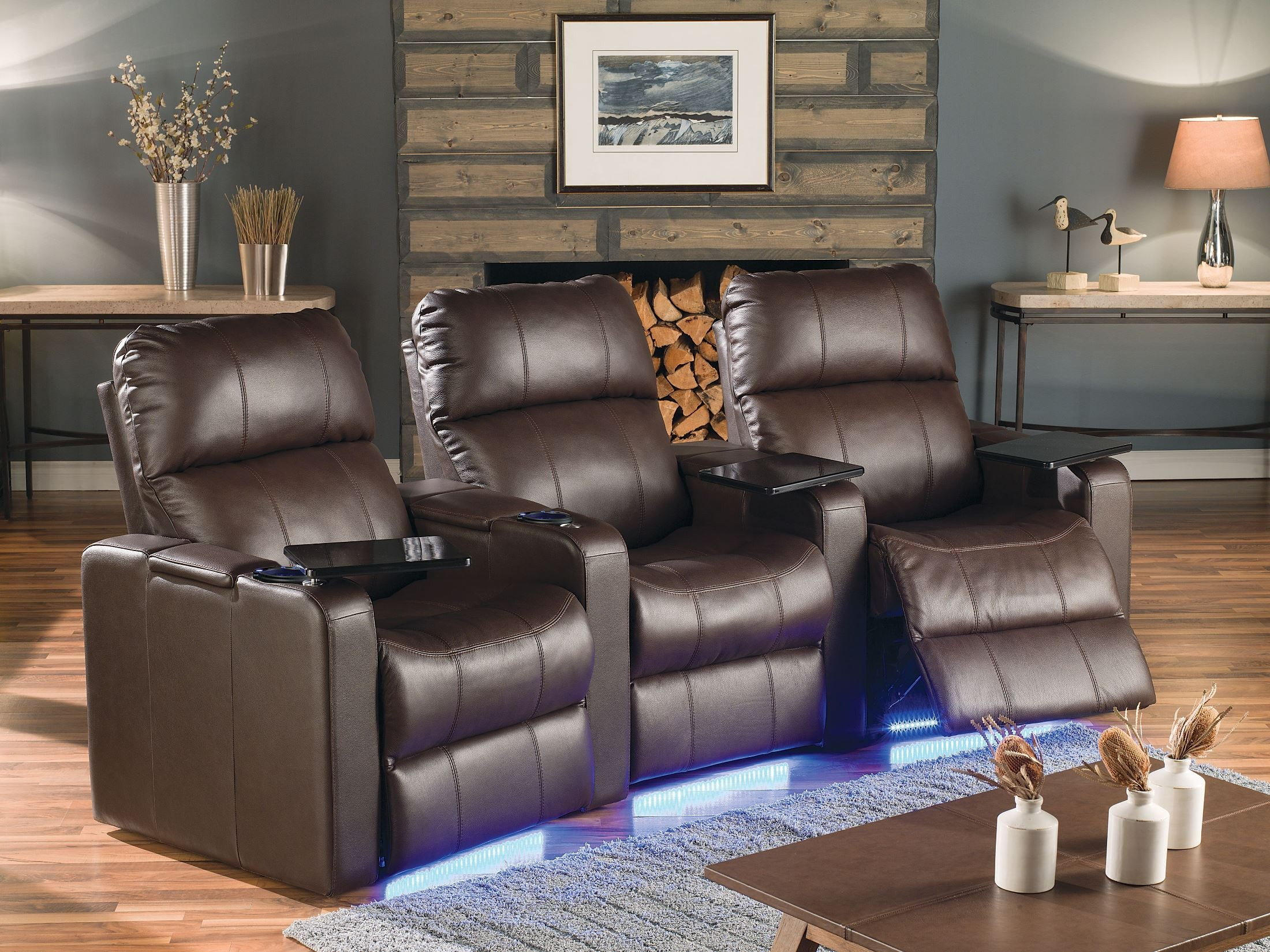 Elite Bonded Leather Home Theatre Seating, PSR-41952 ...
