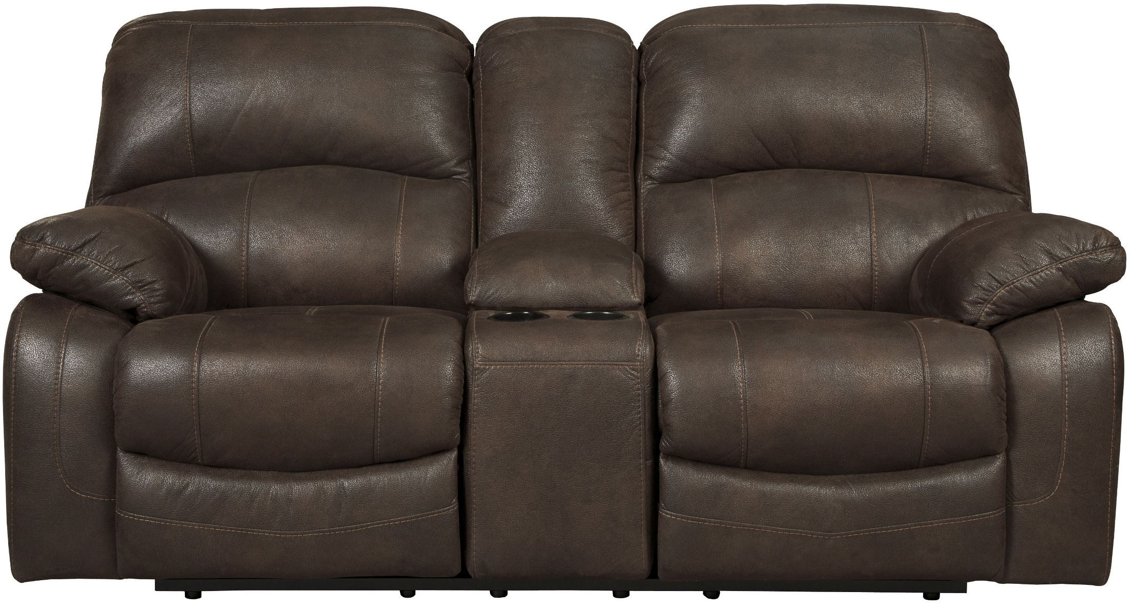 Zavier Truffle Glider Power Reclining Console Loveseat From Ashley 4290191 Coleman Furniture