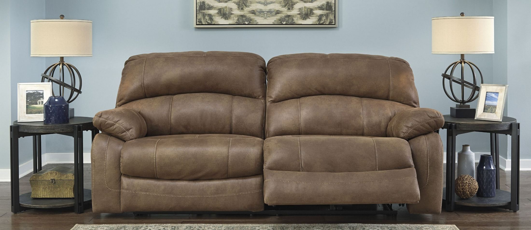 Zavier saddle 2 seat reclining sofa 4290281 ashley for Furniture xchange new jersey
