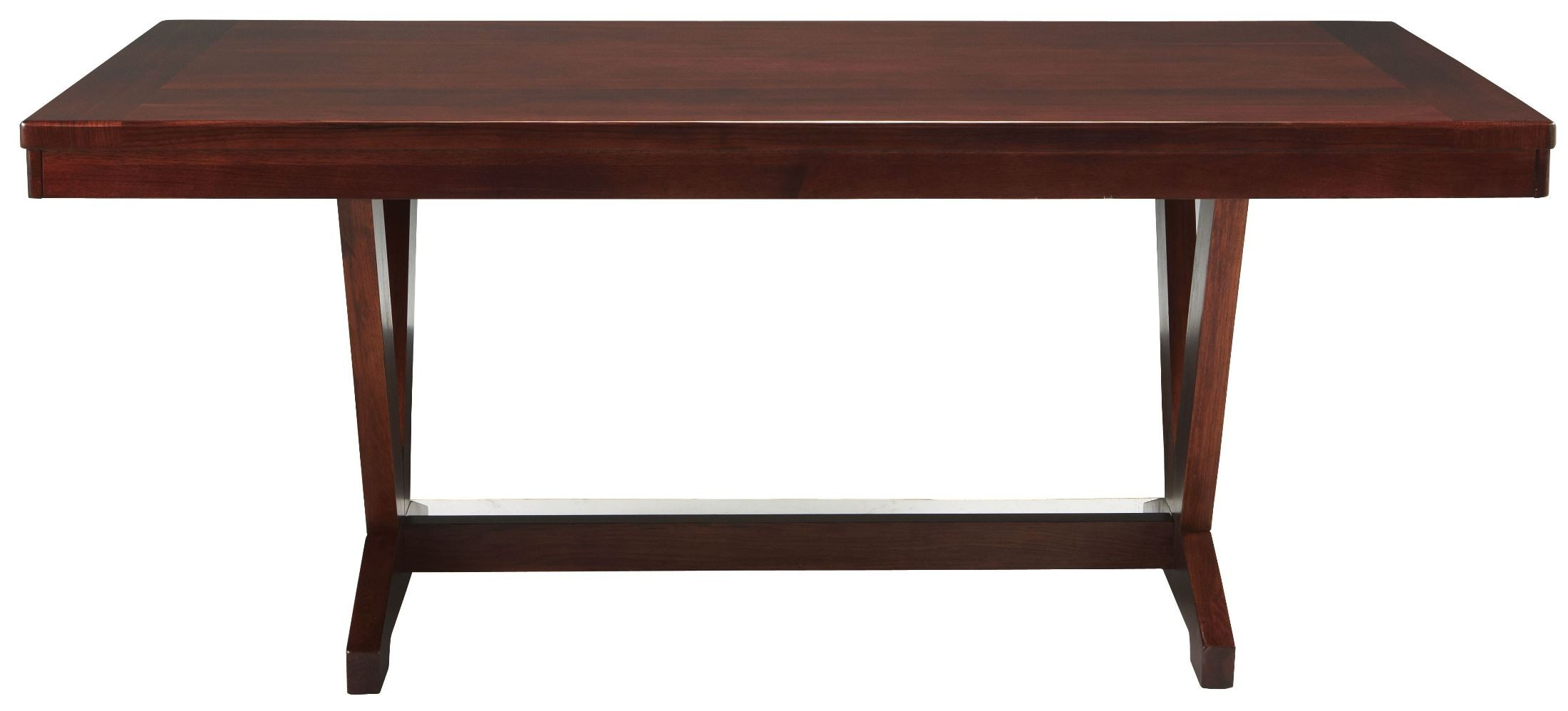 Studio Brown Mahogany Trestle Dining Room Set from  : 431 621 from colemanfurniture.com size 2200 x 998 jpeg 127kB