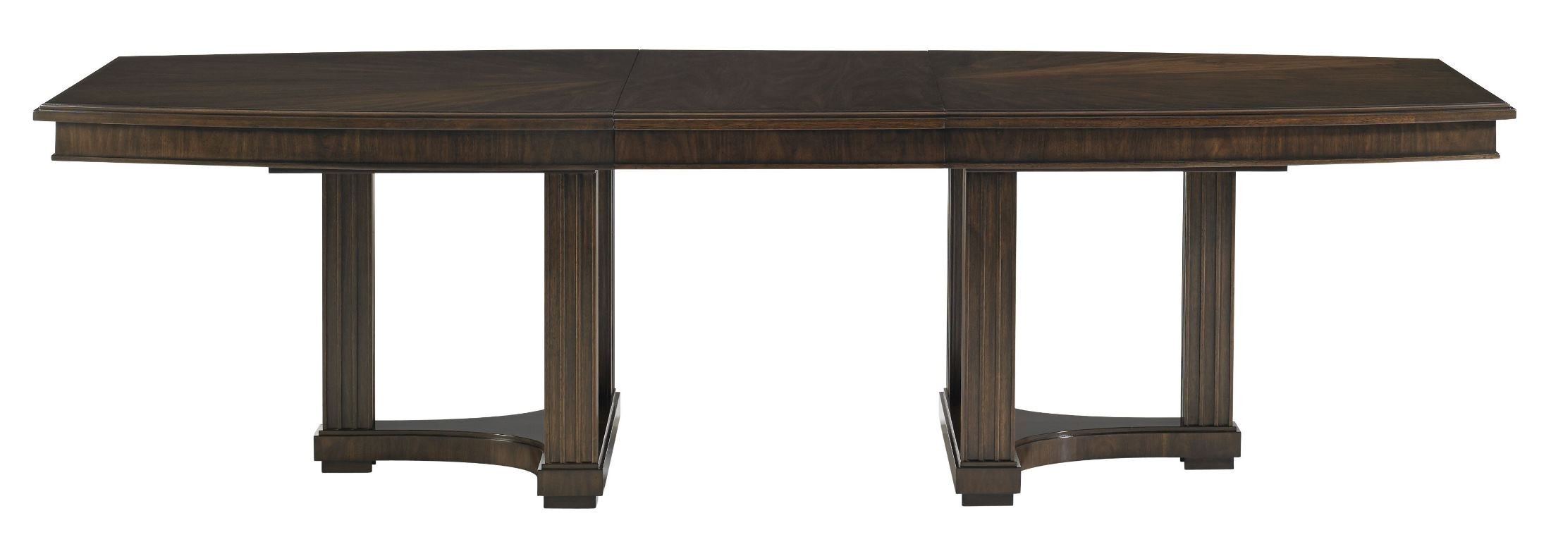 crestaire porter lola double pedestal extendable dining