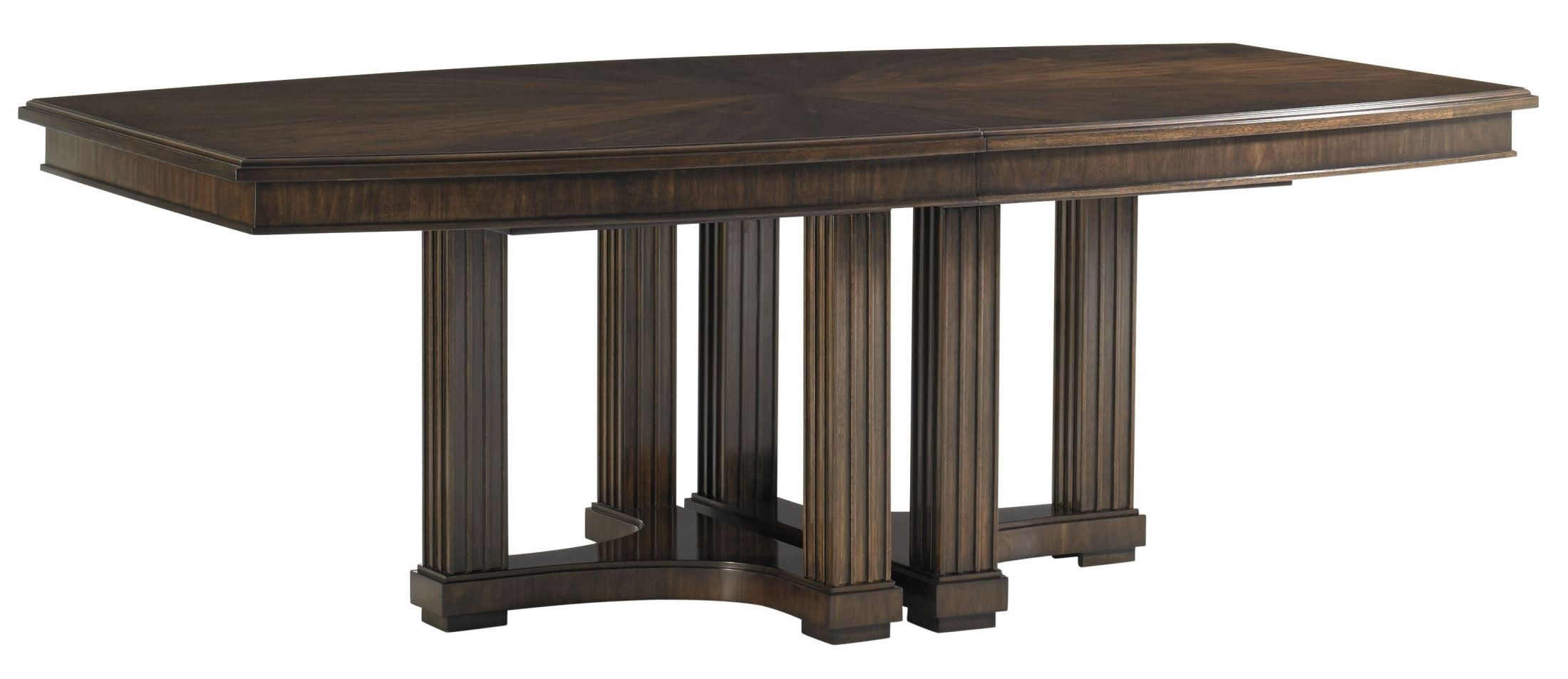 Crestaire Porter Lola Double Pedestal Extendable Dining Table From