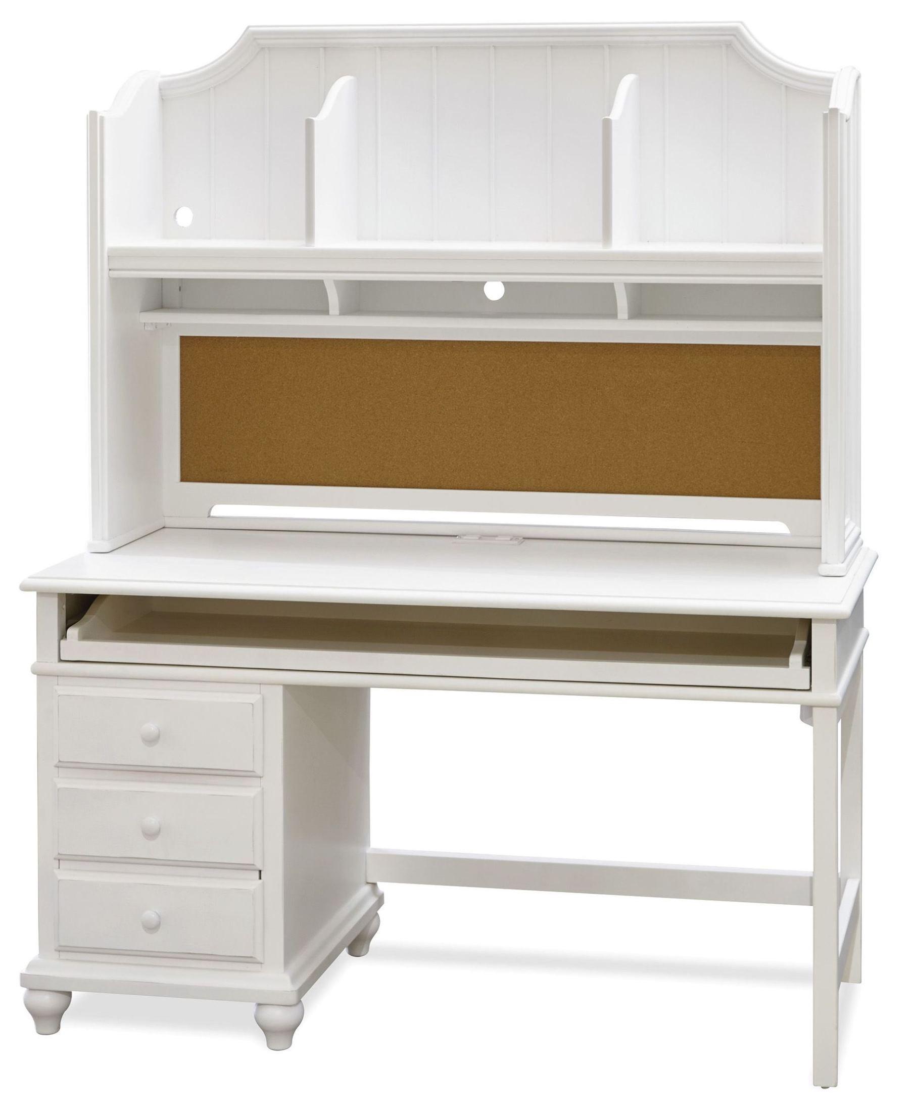 smartstuff white desk with hutch from smart stuff 437a020 437a027 coleman furniture. Black Bedroom Furniture Sets. Home Design Ideas