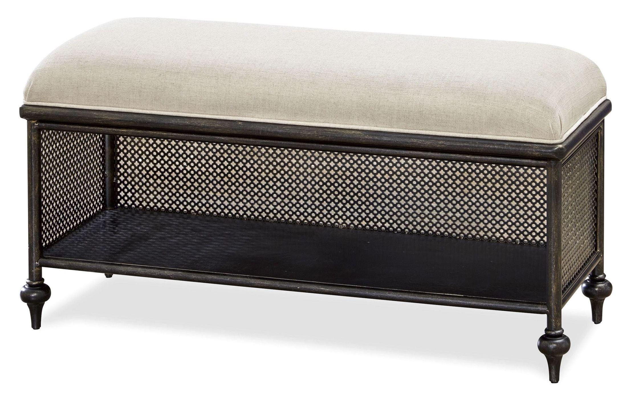 Smartstuff Black Metal Bed Bench From Smart Stuff 437b075 Coleman Furniture