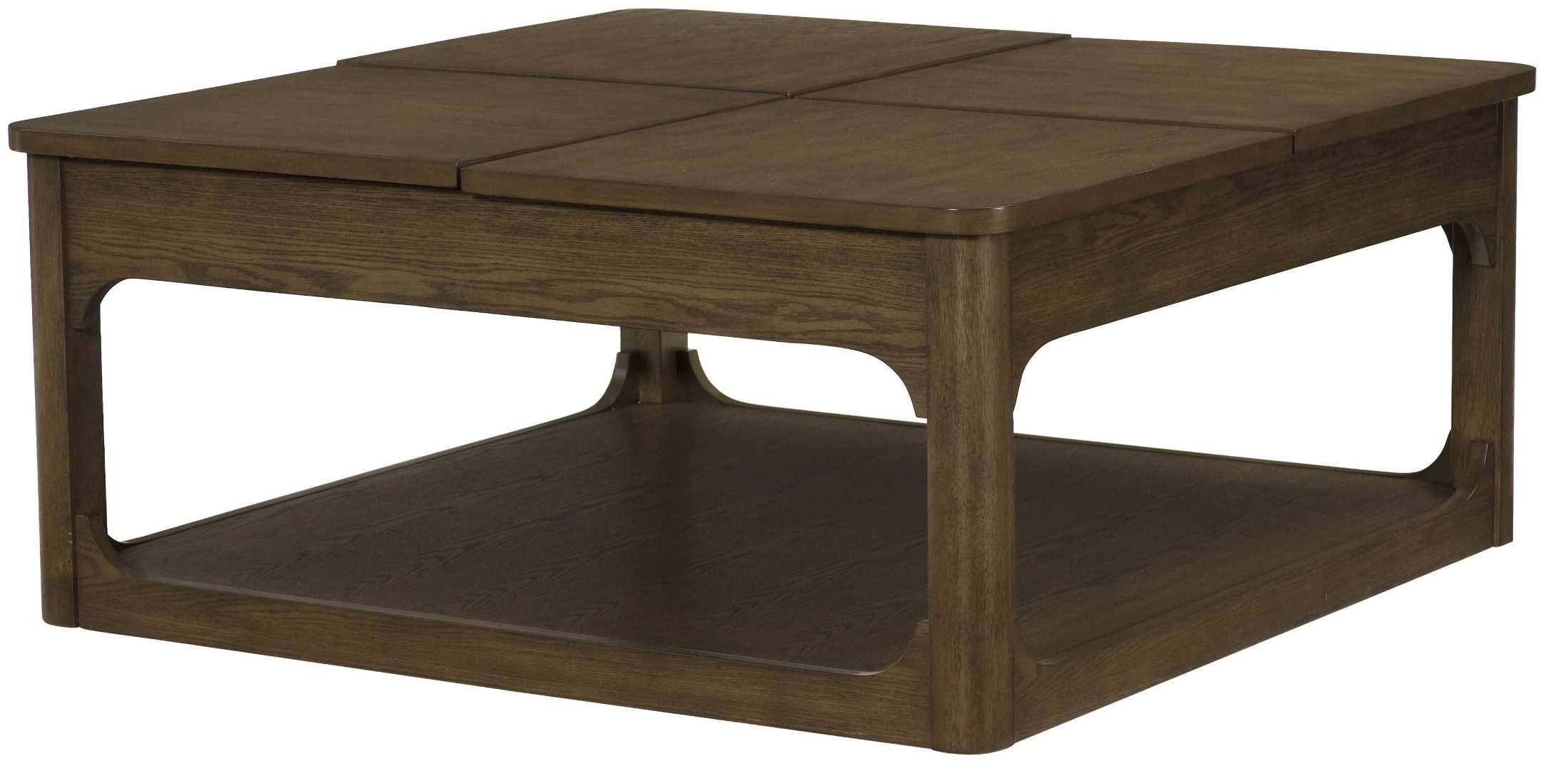 Facet Smoky Brown Oak Square Lift Top Cocktail Table From Hammary 438 912 Coleman Furniture