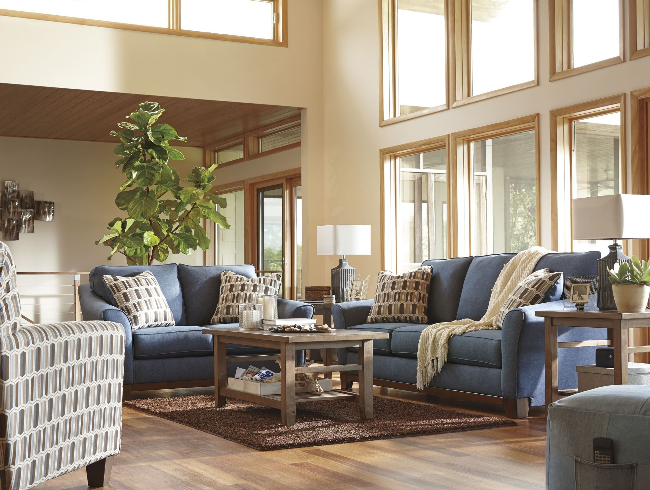 janley denim living room set 4380738 ashley
