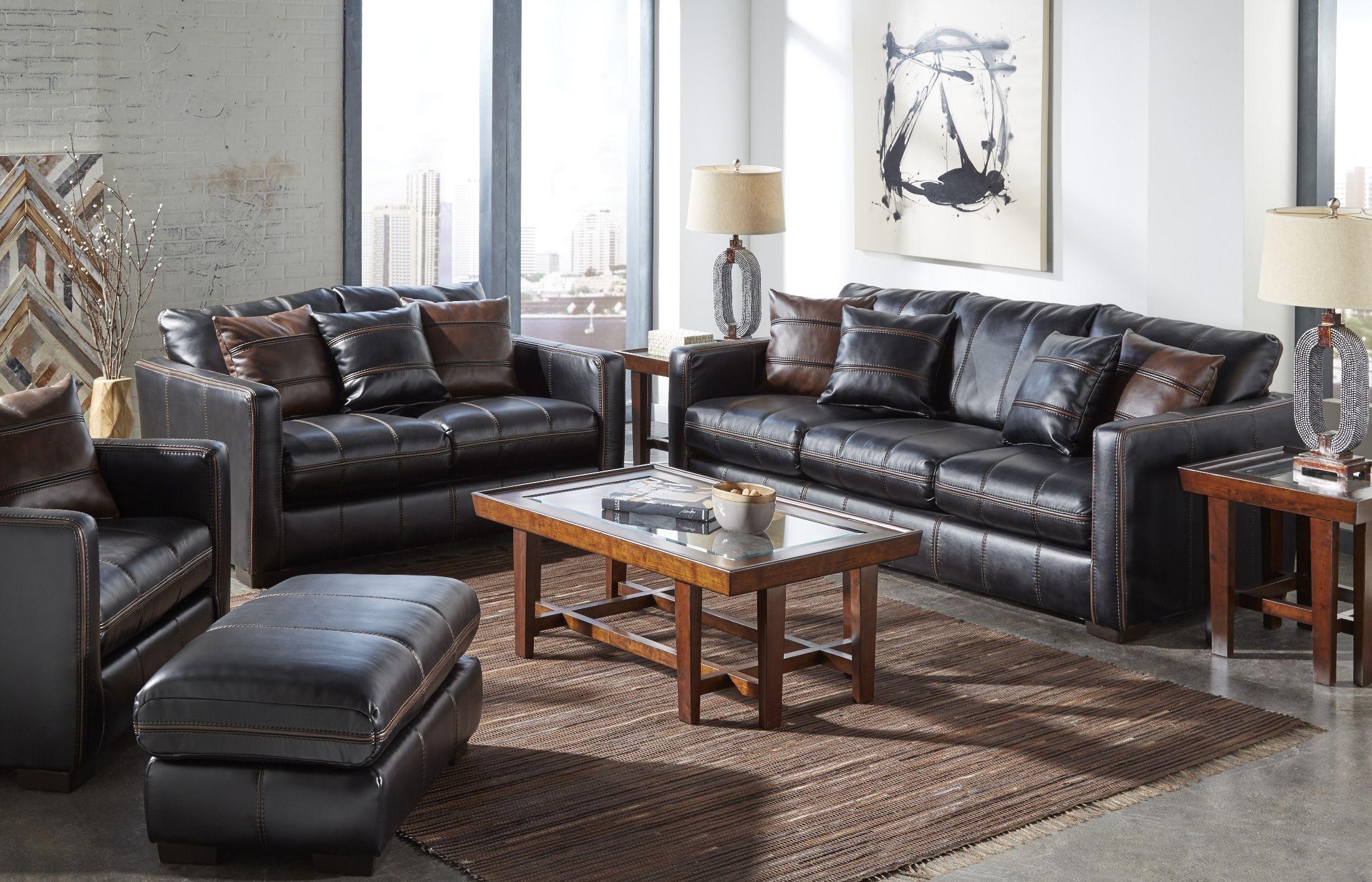 Tucker Black Living Room Set 4395 03 115208125208 Jackson