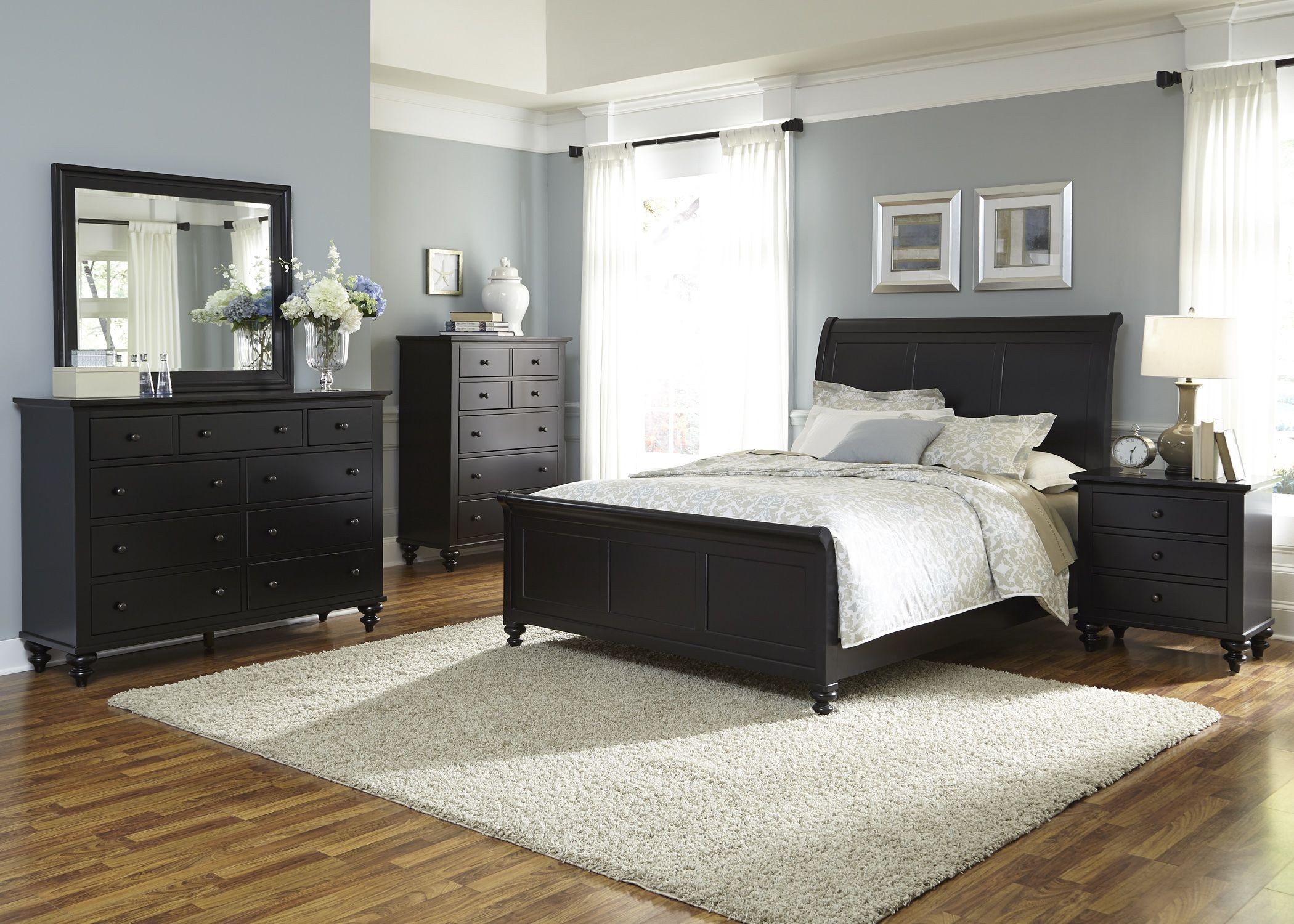 Hamilton III Black 3 Drawer Night Stand from Liberty 441 BR61