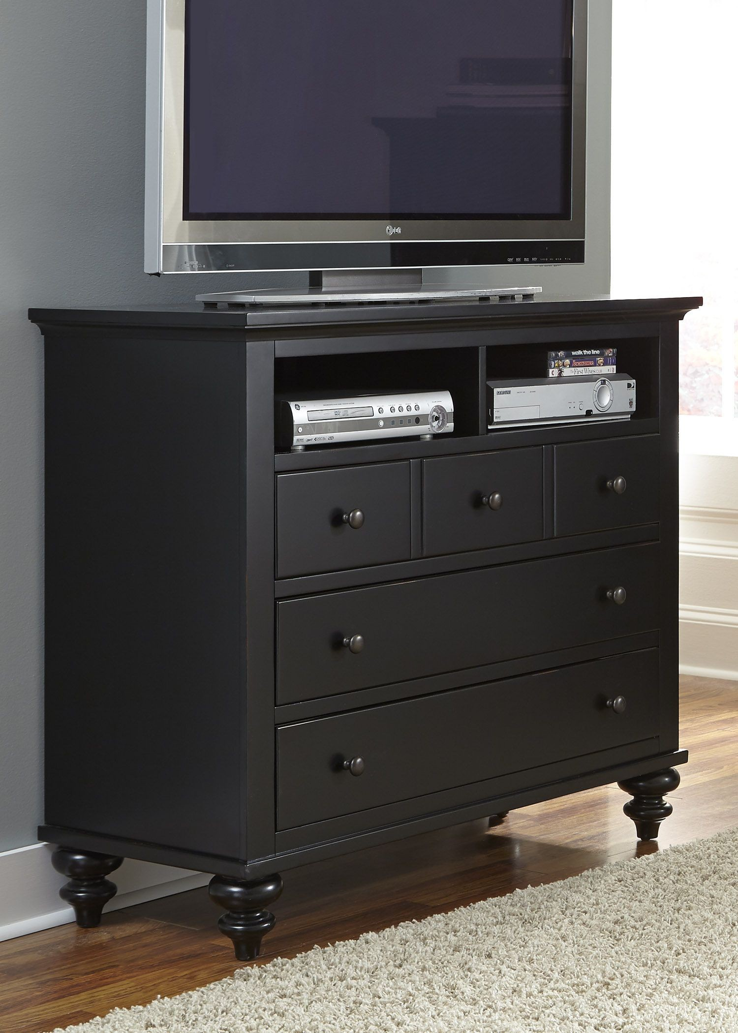 Hamilton iii black sleigh bedroom set from liberty 441 br for I furniture hamilton