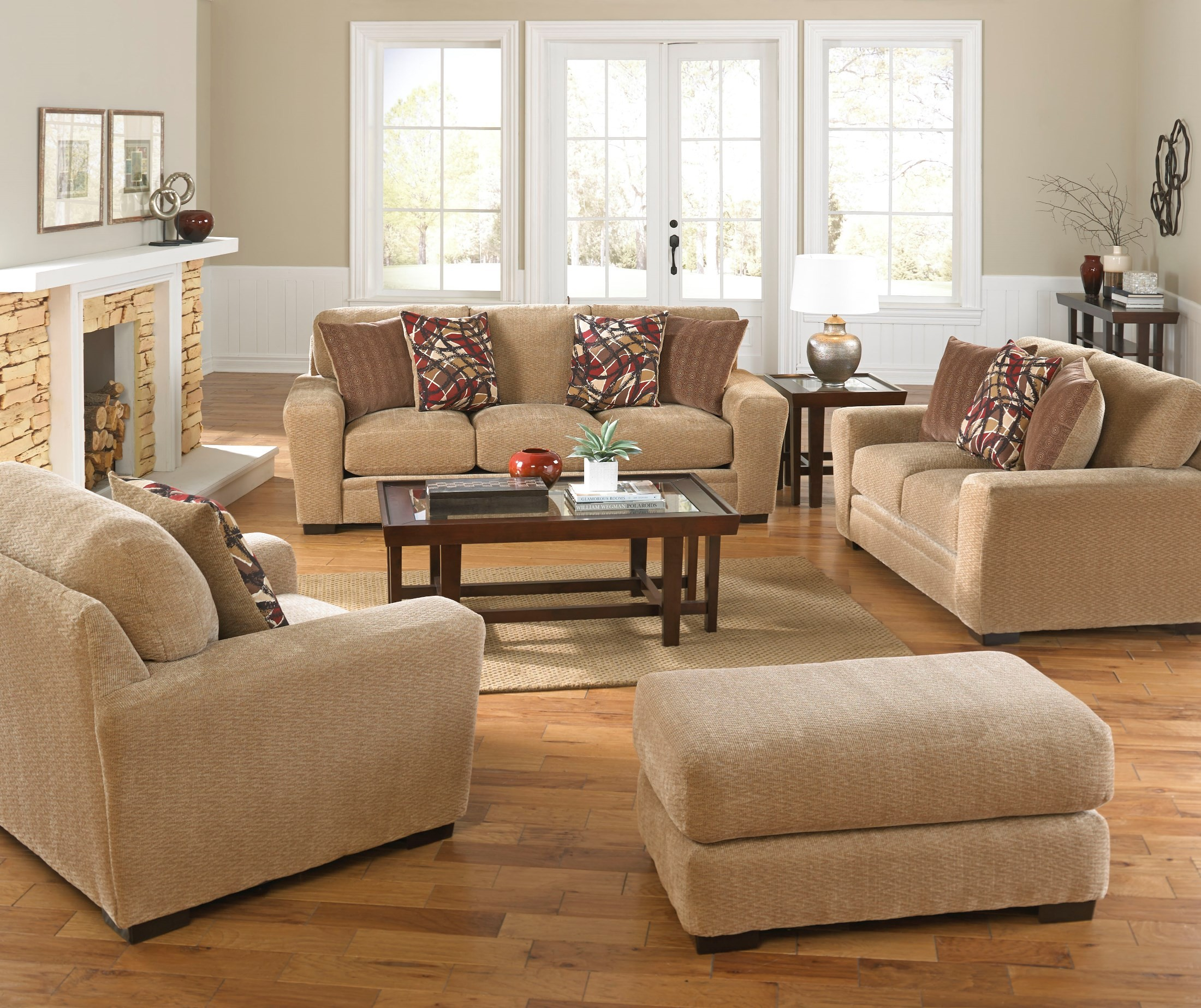 Prescott oatmeal and brick living room set 448703280136161634 jackson - The brick sofa sets ...