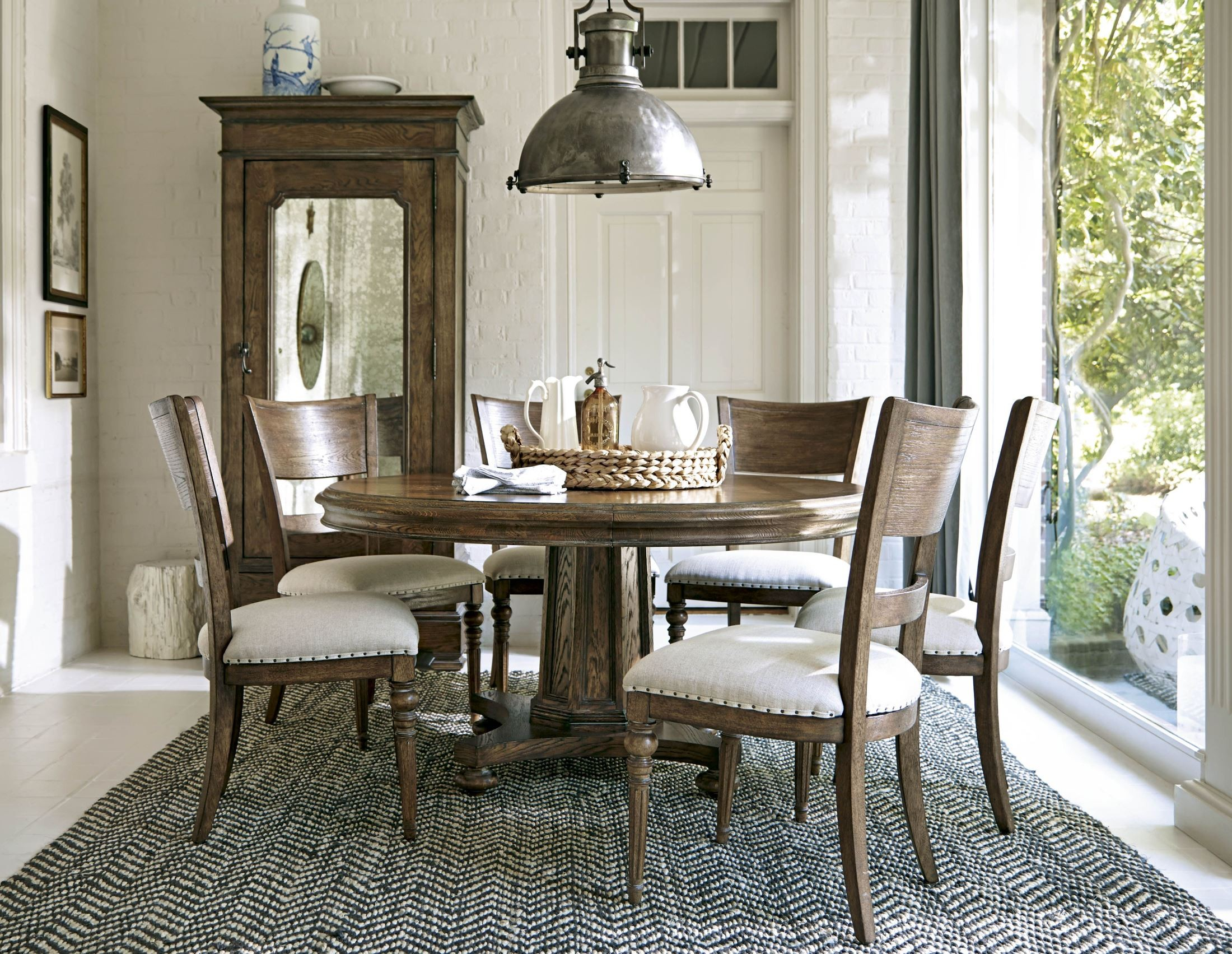New Bohemian Round Dining Room Set From Universal 450657 Coleman