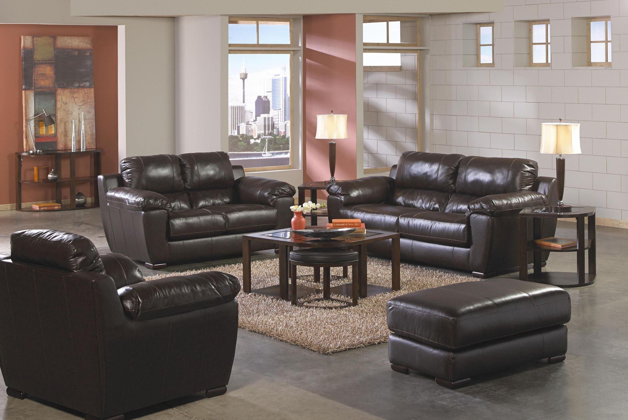 Sergio Mahogany Living Room Set From Jackson