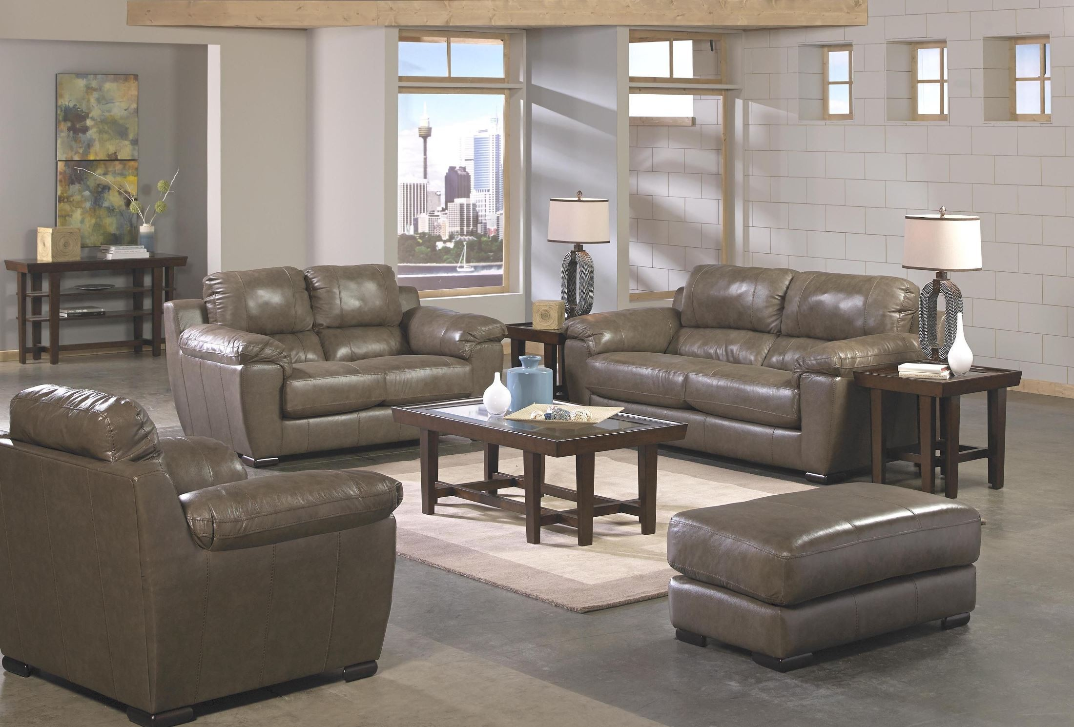 Sergio Smoke Living Room Set From Jackson